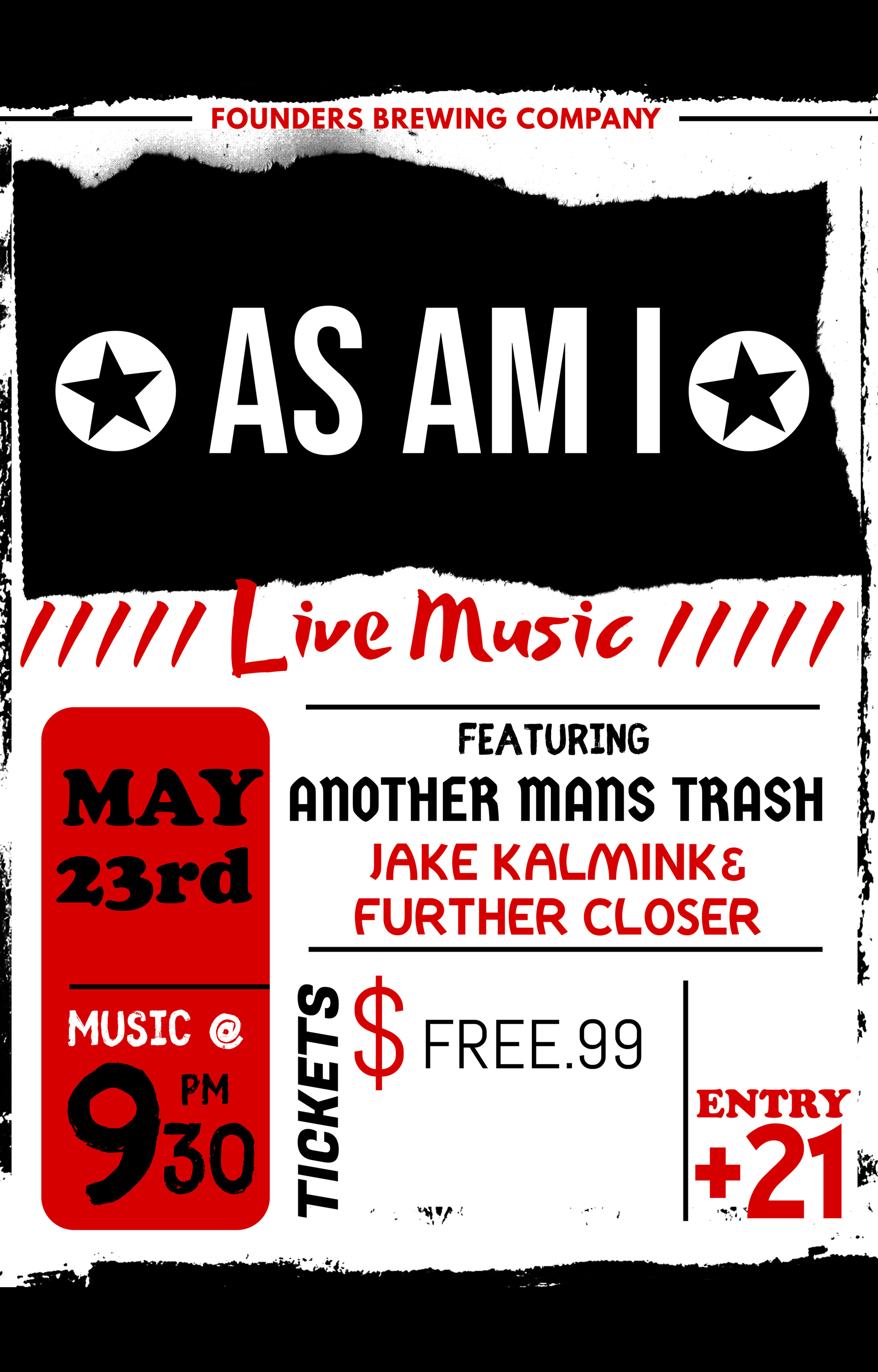 As Am I event poster