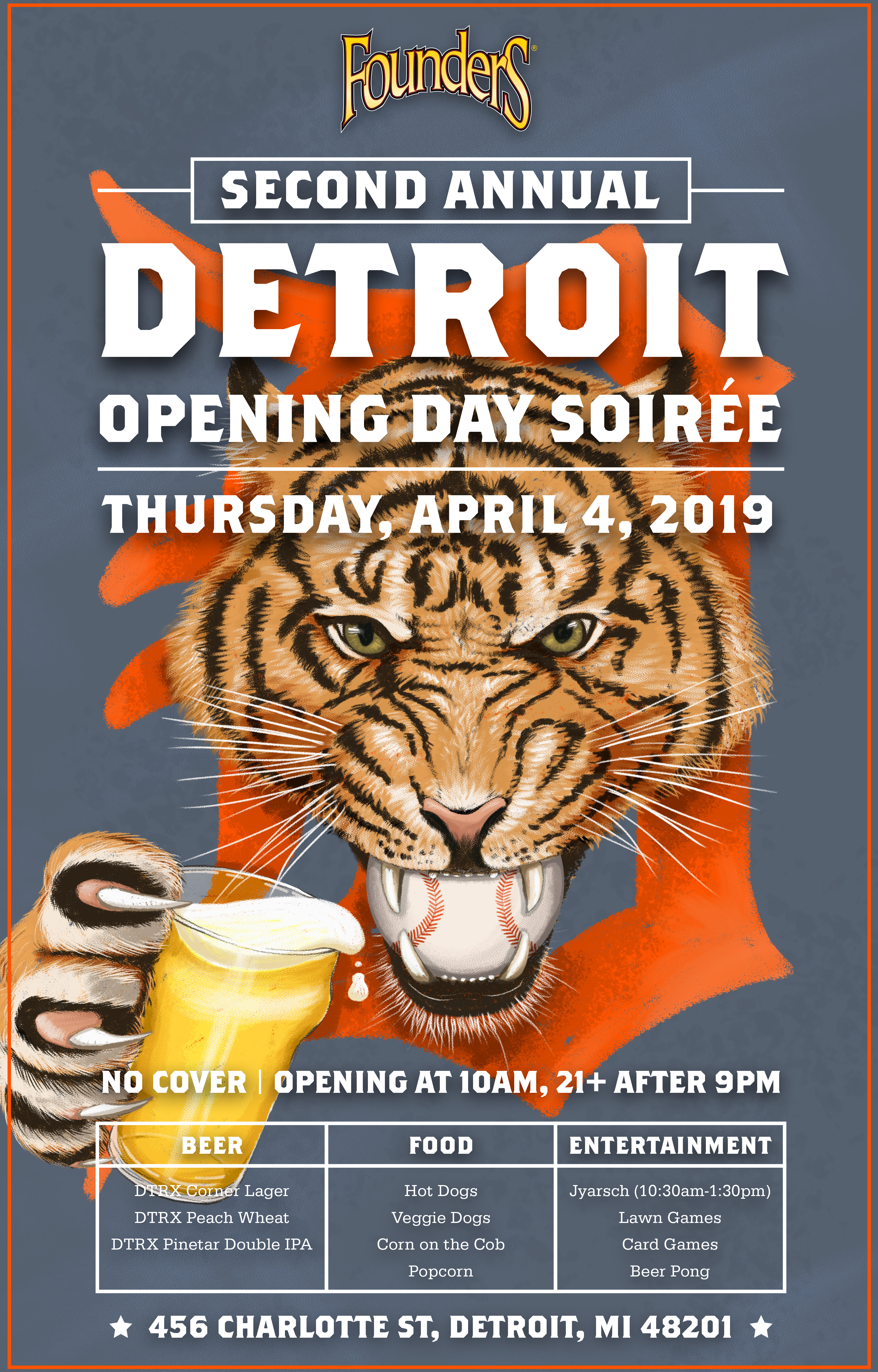 Founders Second Annual Detroit Opening Day Soirée