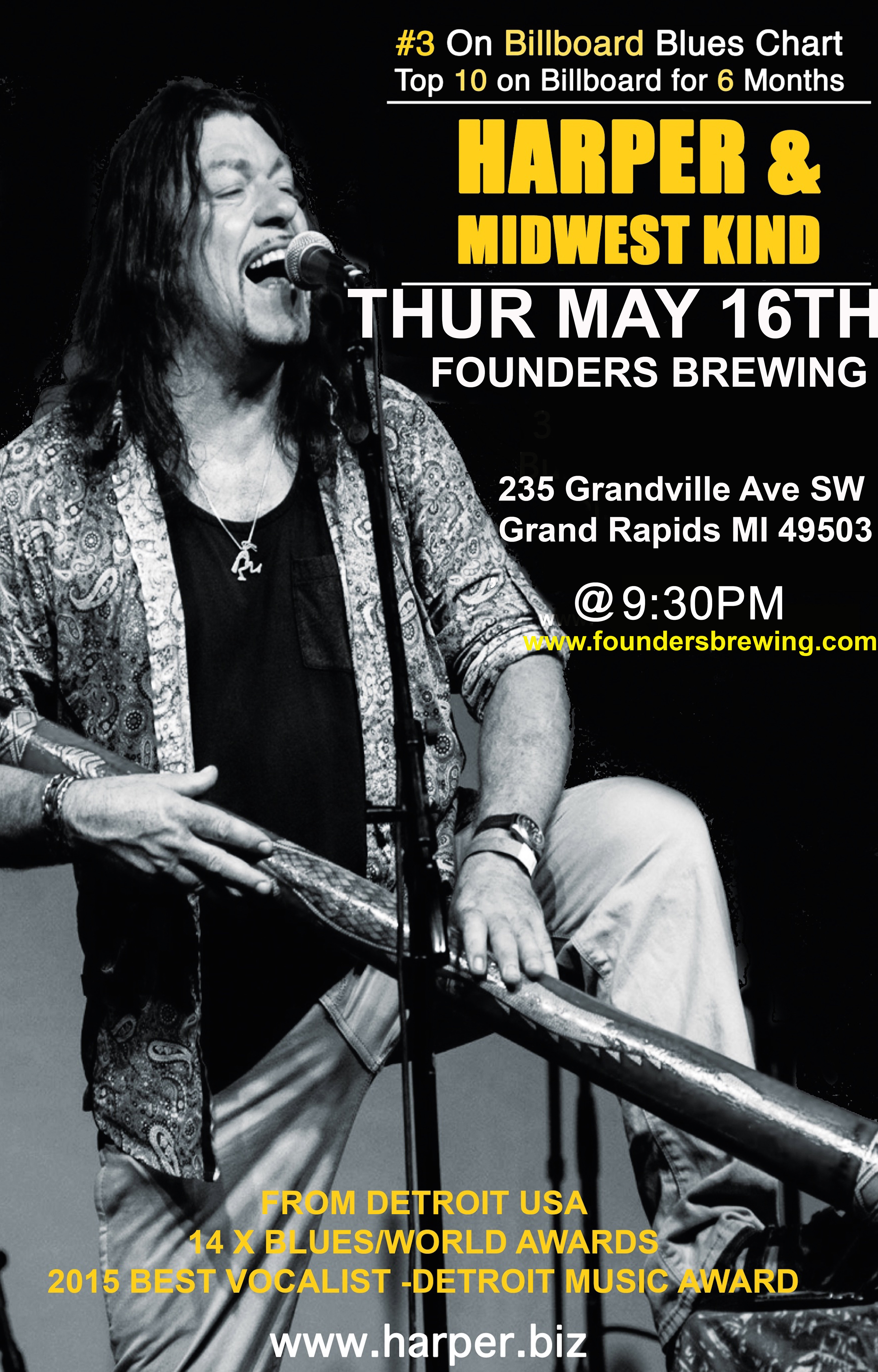 Harper & Midwest Kind event poster