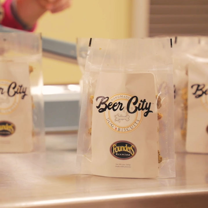 Bag of Beer City Dog Biscuits