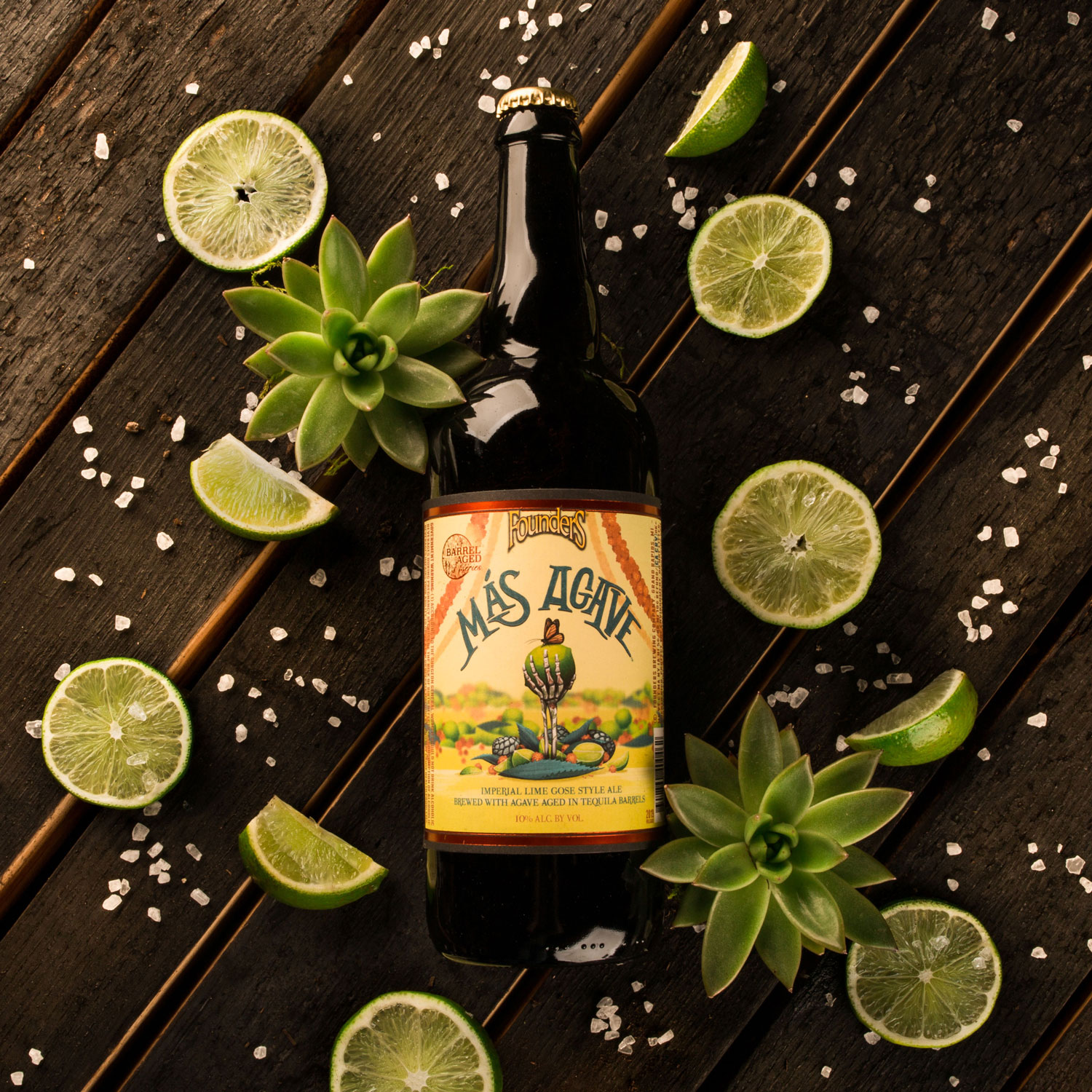 Founders Más Agave with limes and salt