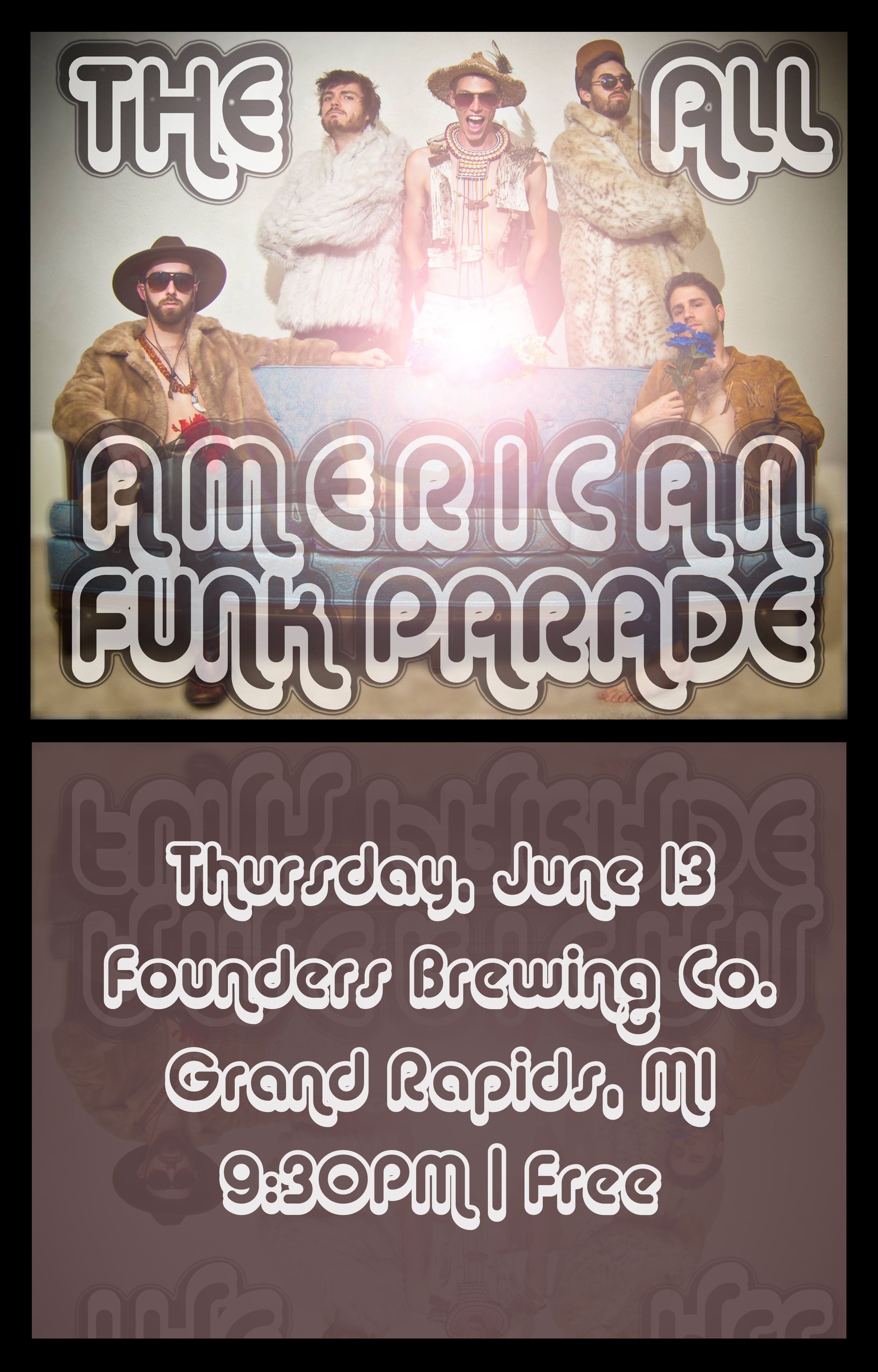 The All American Funk Parade event poster