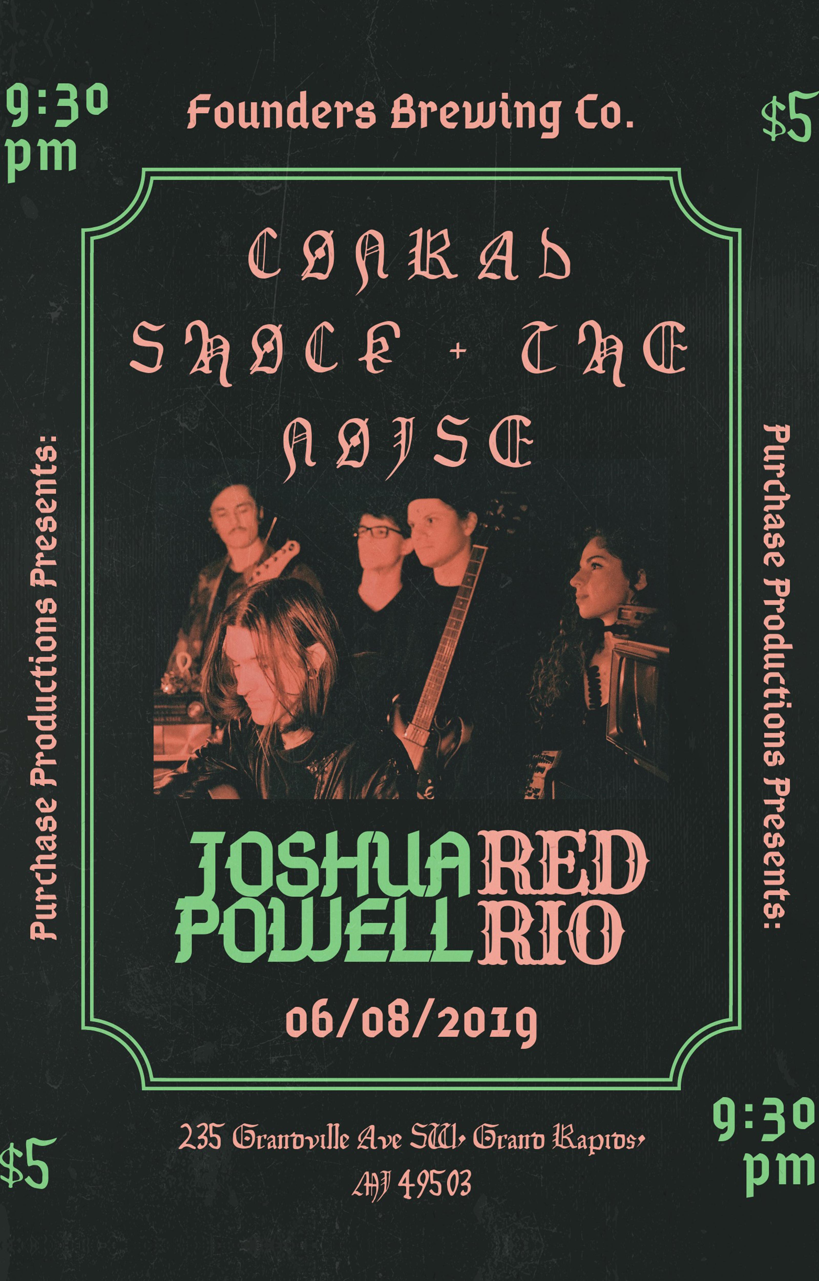 Conrad Shock event poster