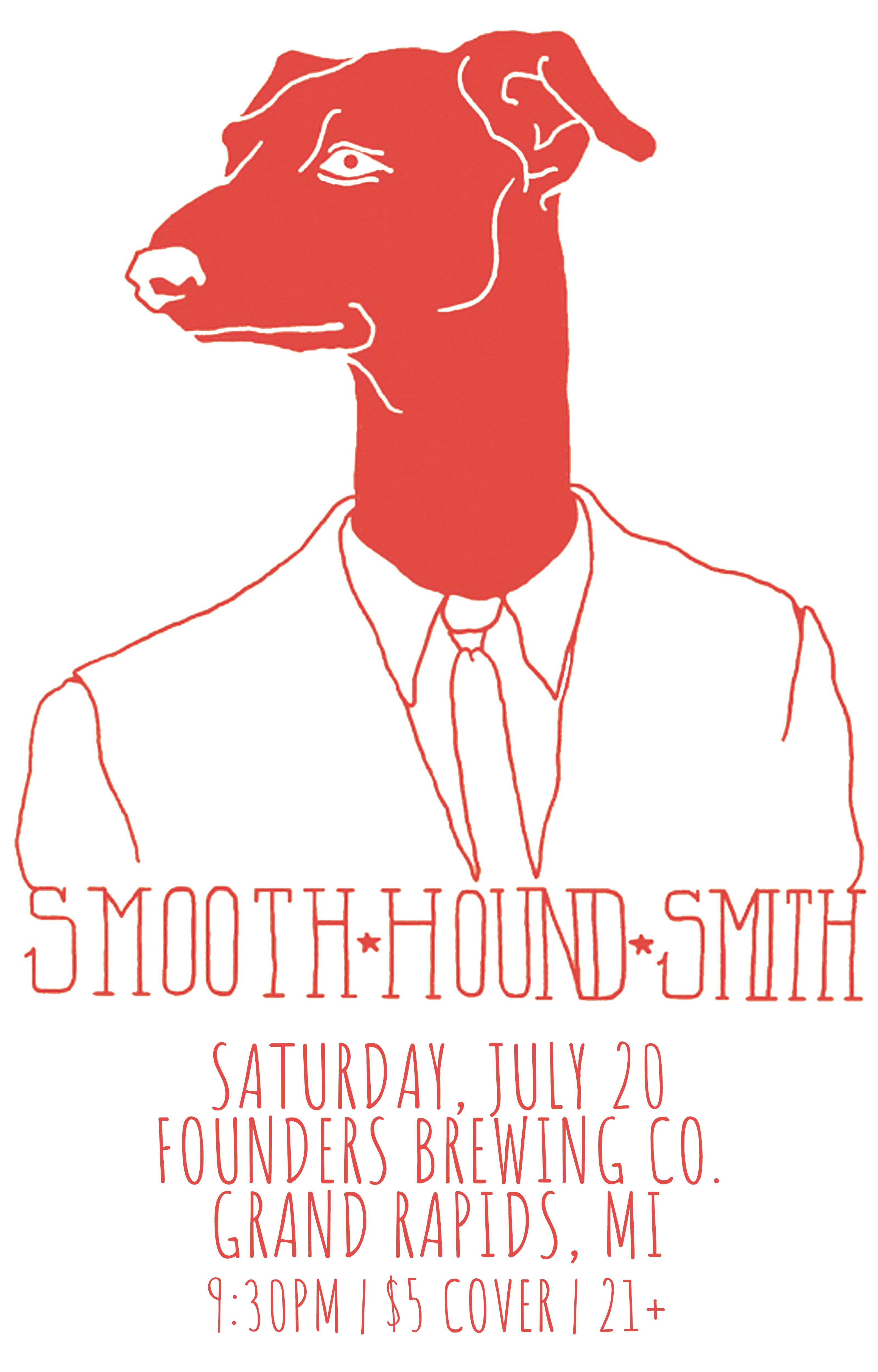 Smooth Hound Smith event poster