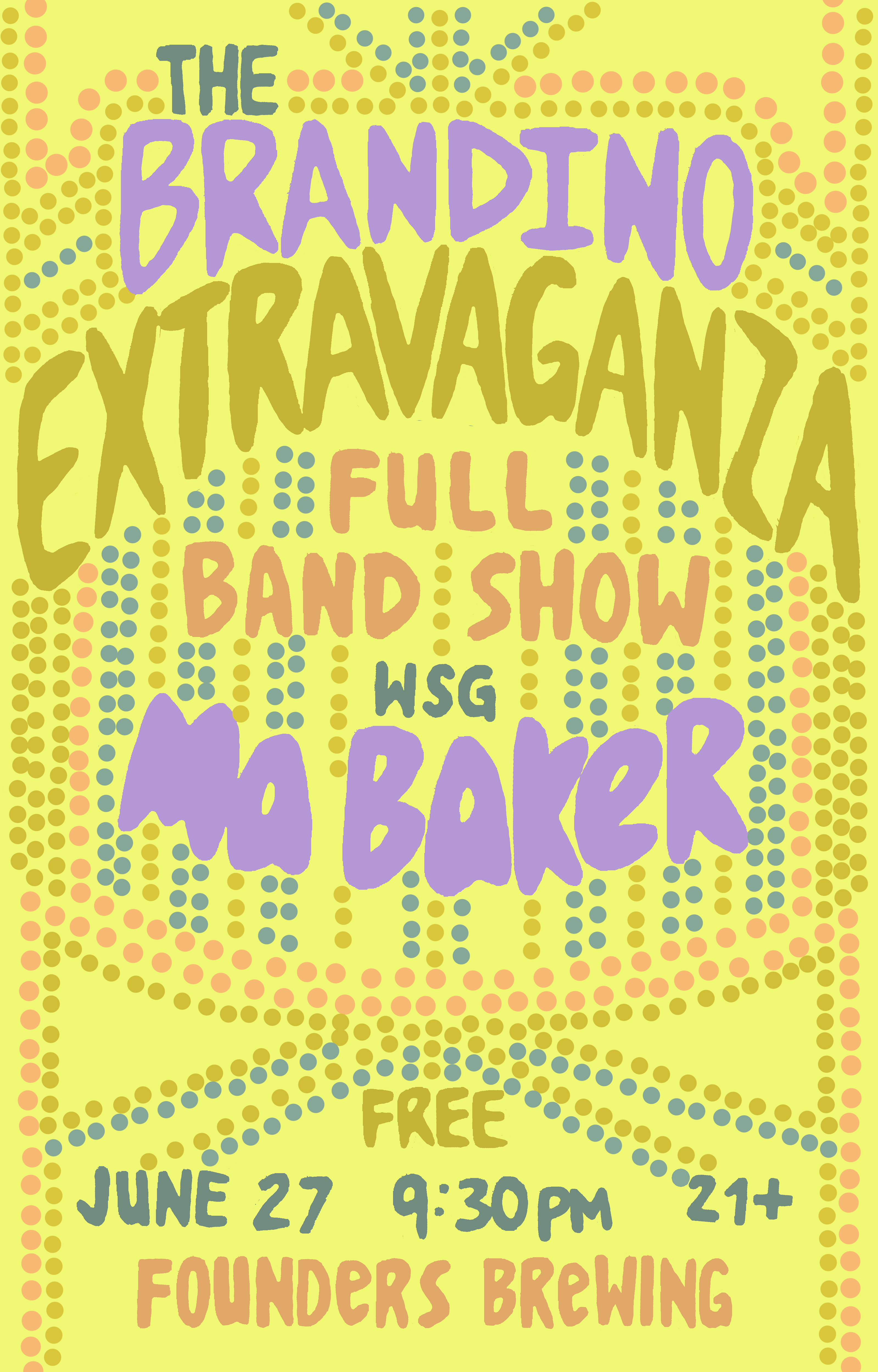 The Brandino Extravaganza Full Band Show event poster