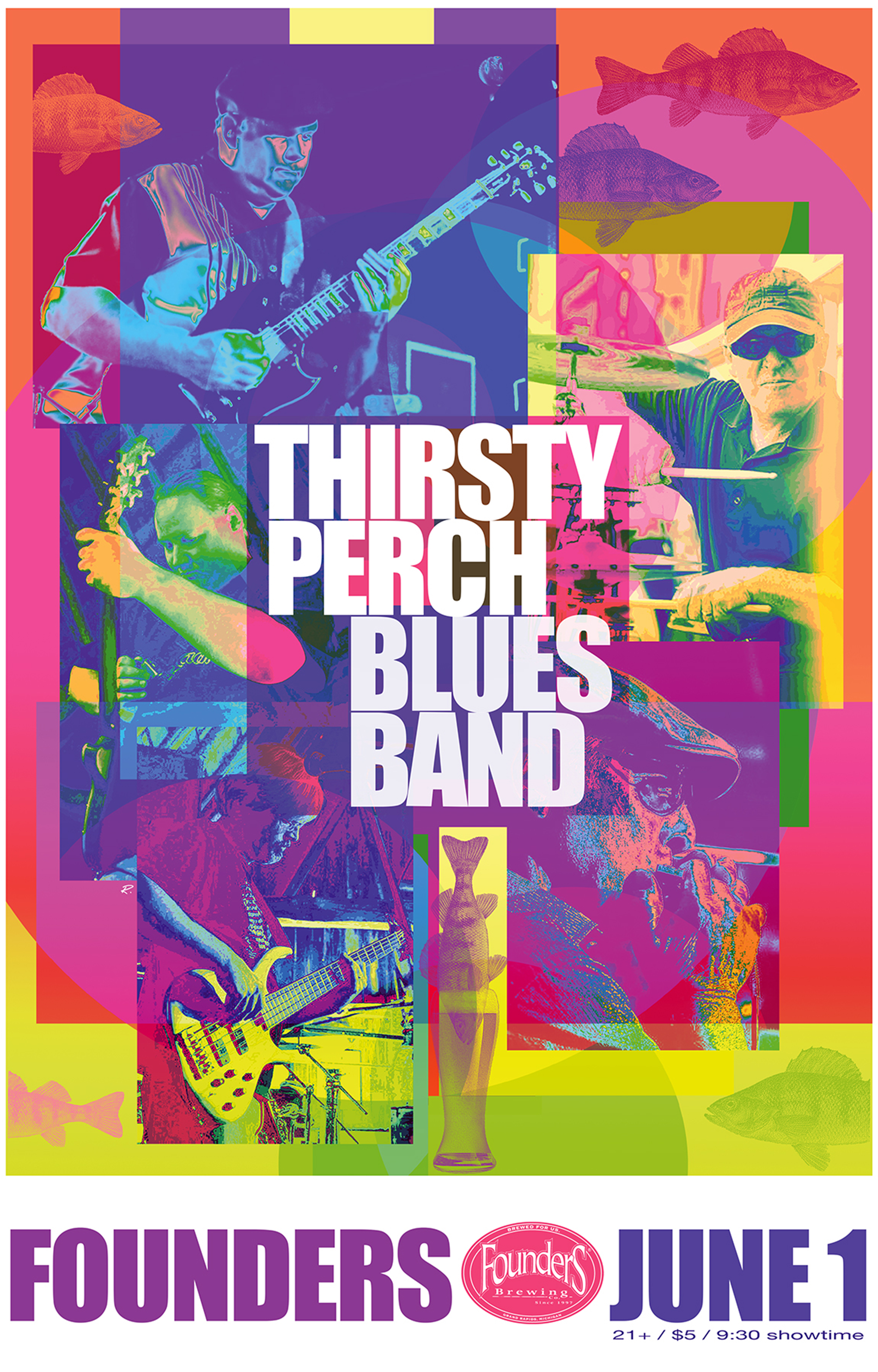 Thirsty Perch Blues Band event poster