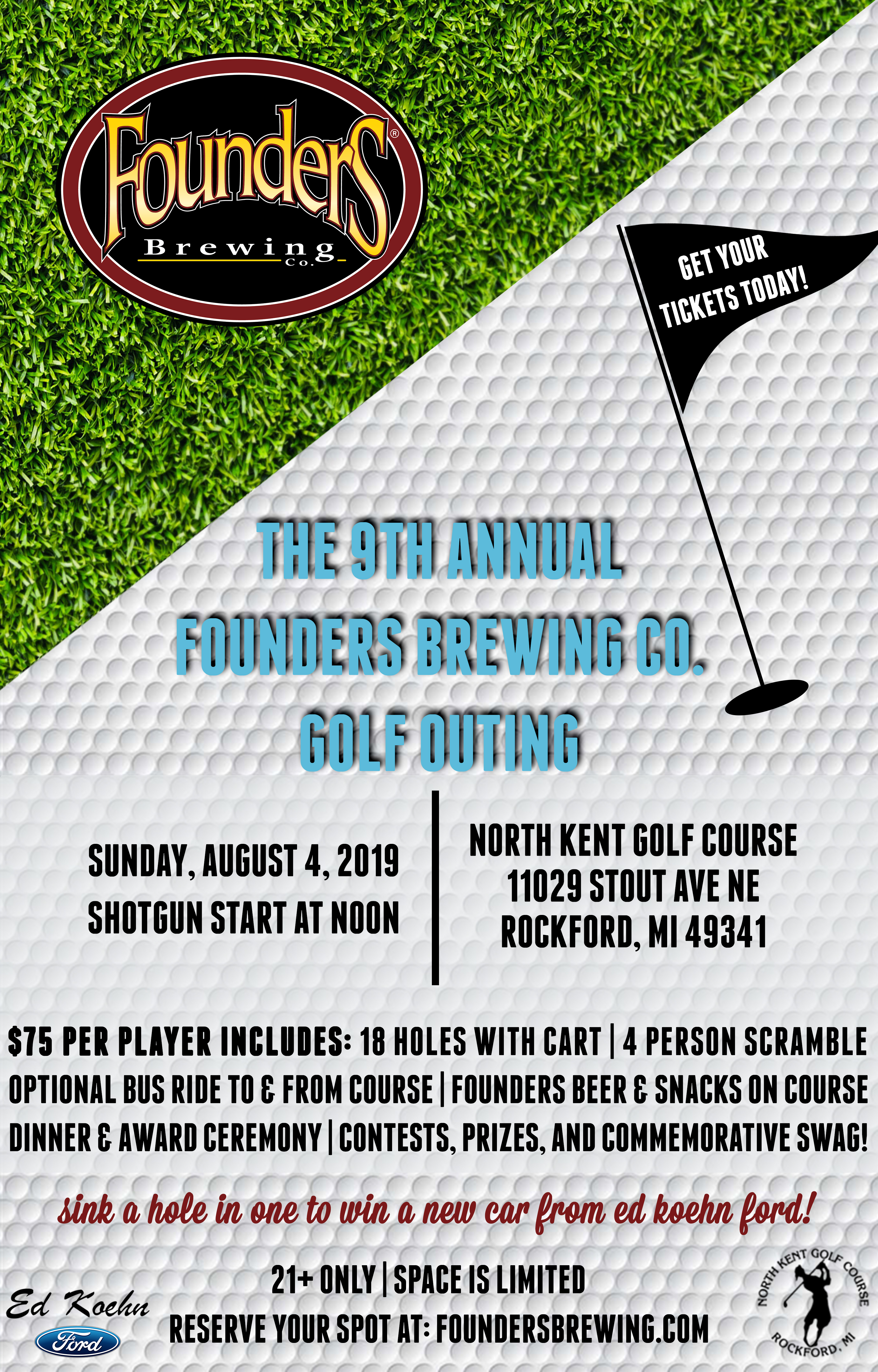 Founders 9th Annual Golf Outing event poster