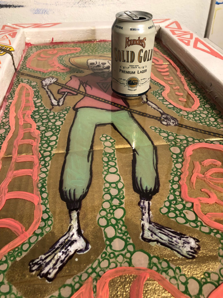 Luke Effler Solid Gold skeleton artwork
