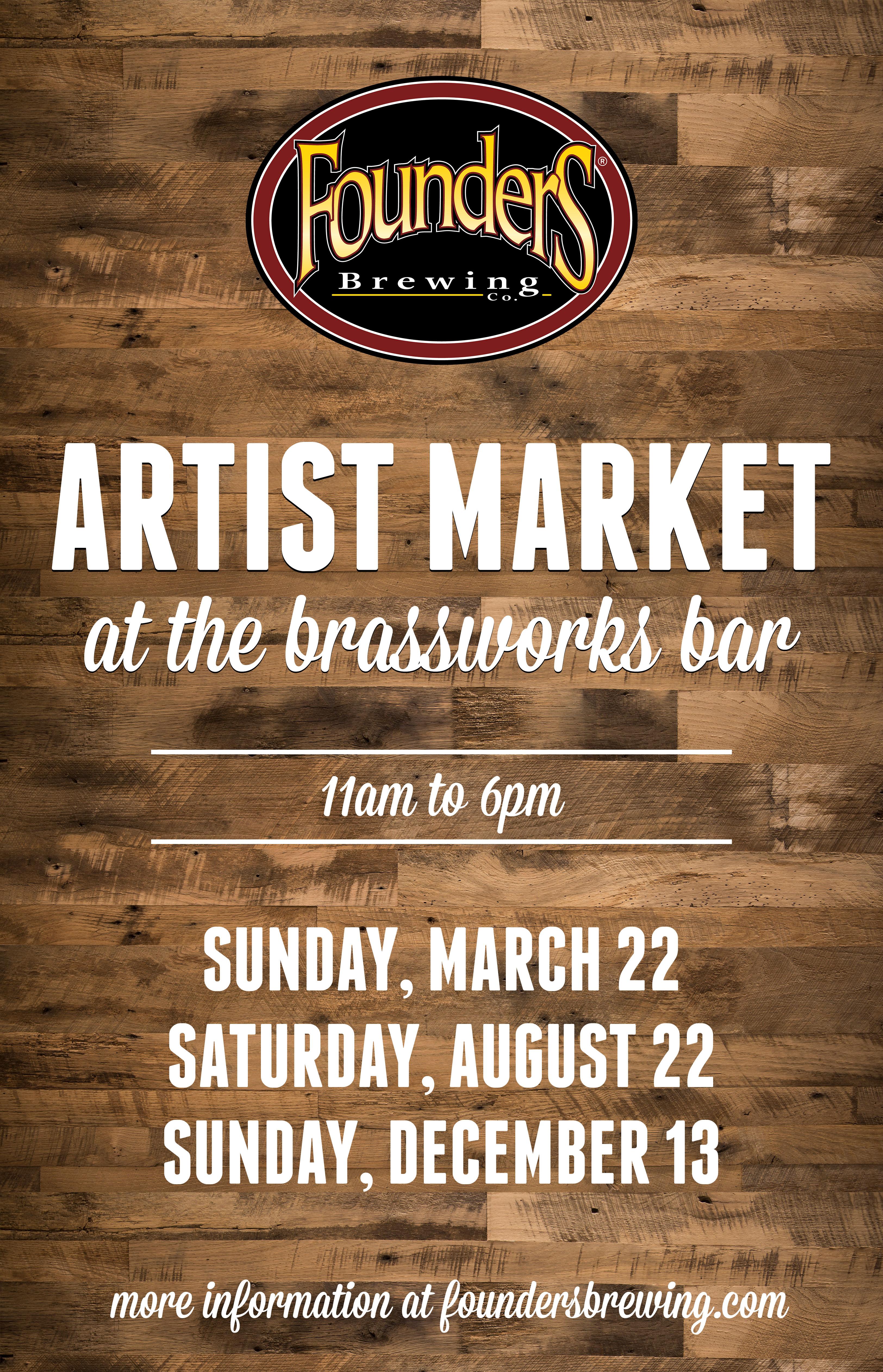 Artist Market at the Brassworks Bar event poster