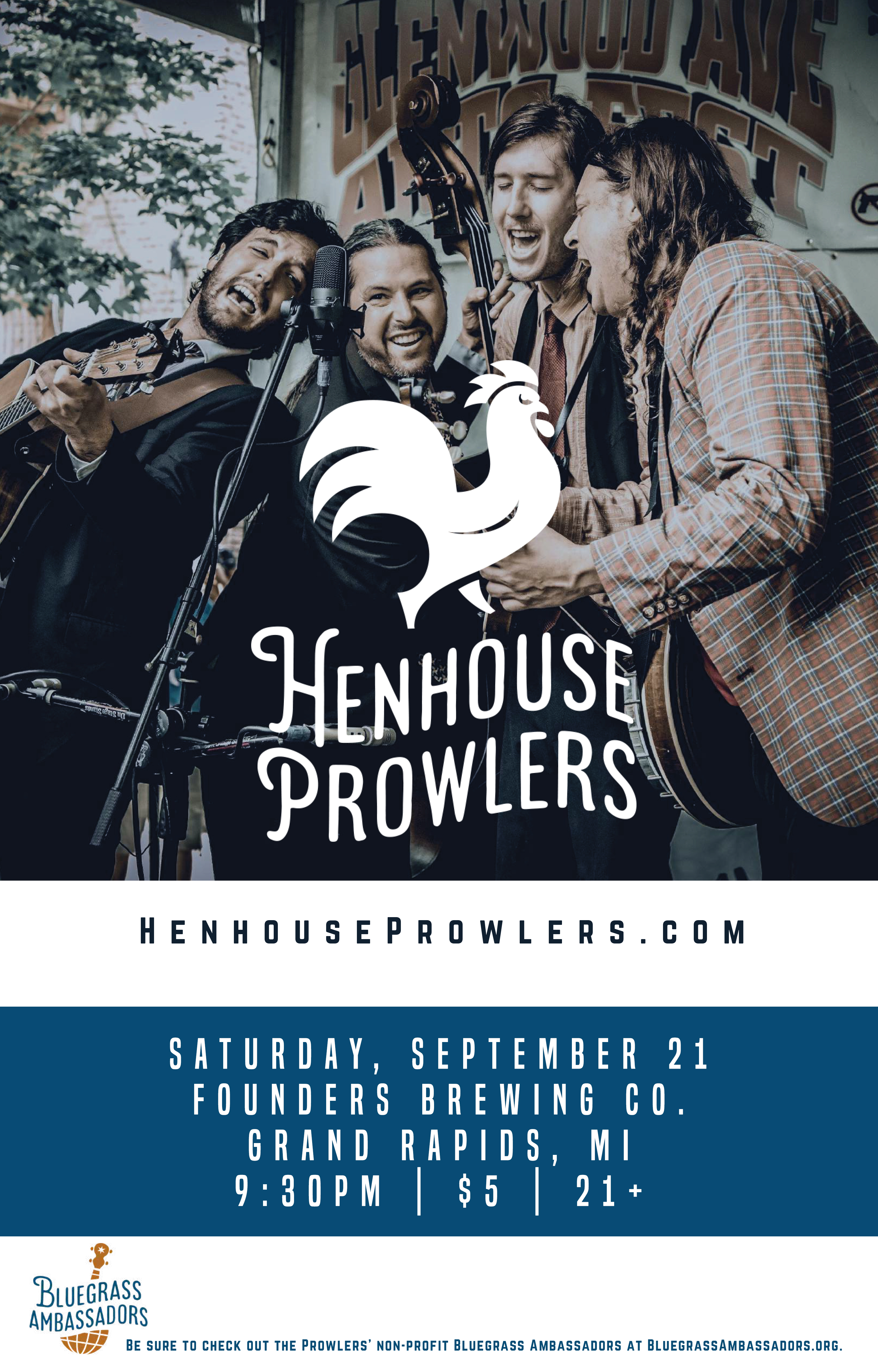 Henhouse Prowlers event poster