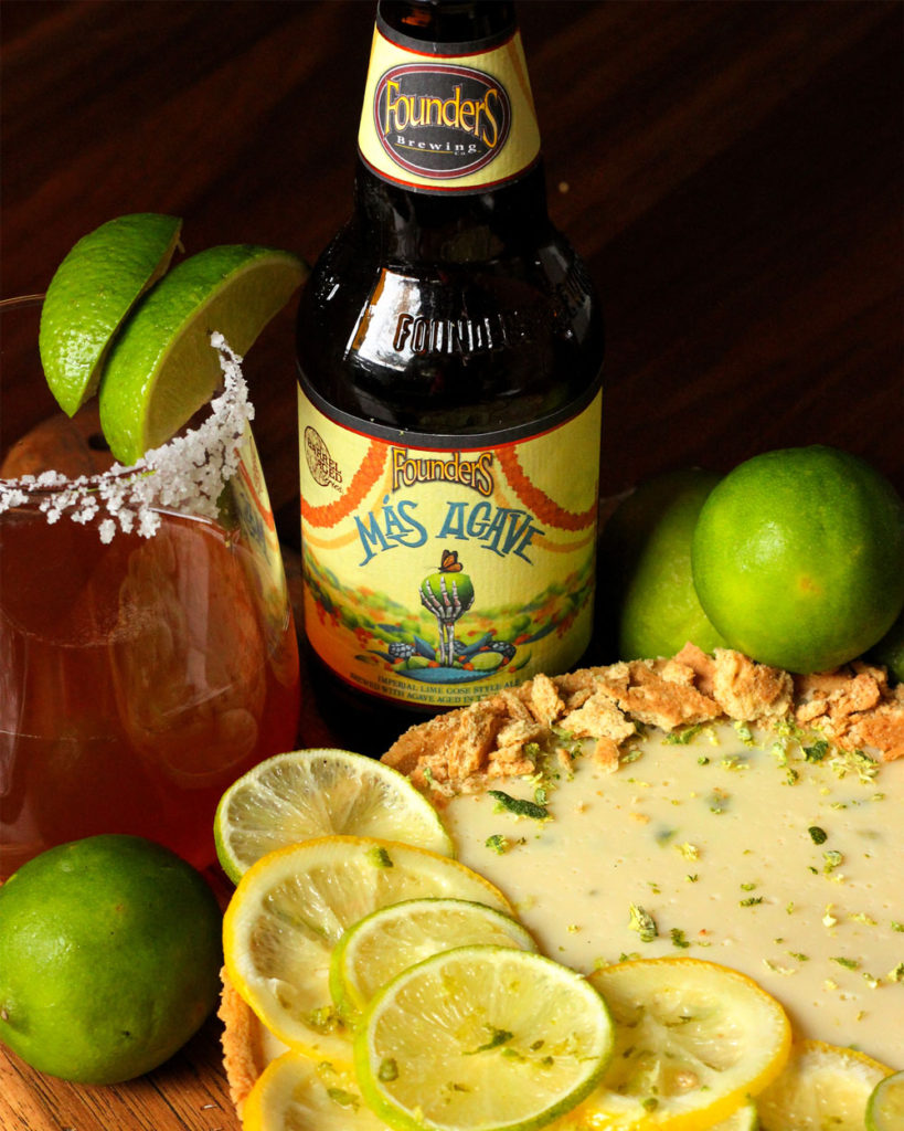Founders Más Agave and key lime pie
