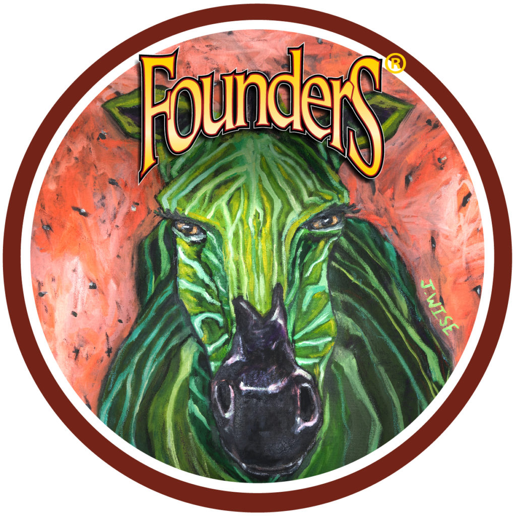 Founders Green Zebra badge
