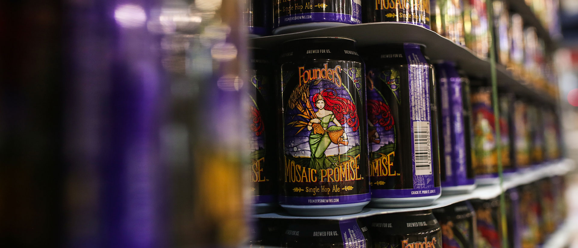 Cans of Founders Mosaic Promise