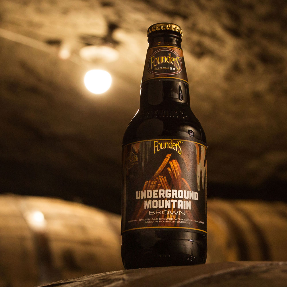 Bottle of Founders Underground Mountain Brown