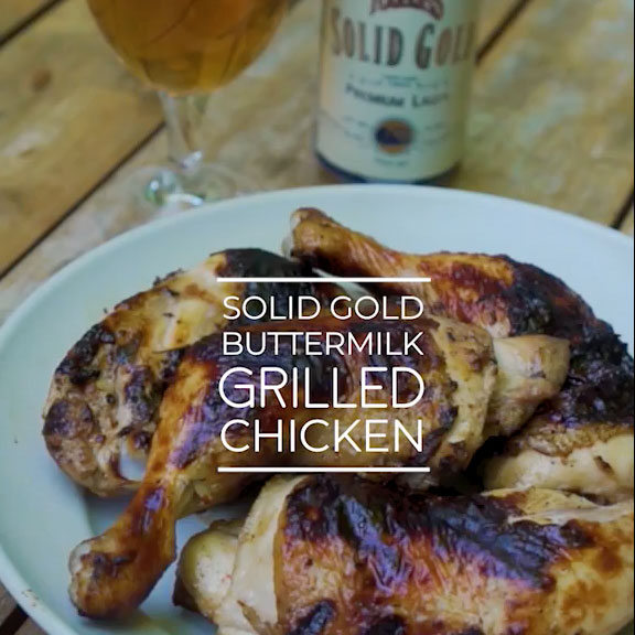 Founders Solid Gold buttermilk grilled chicken