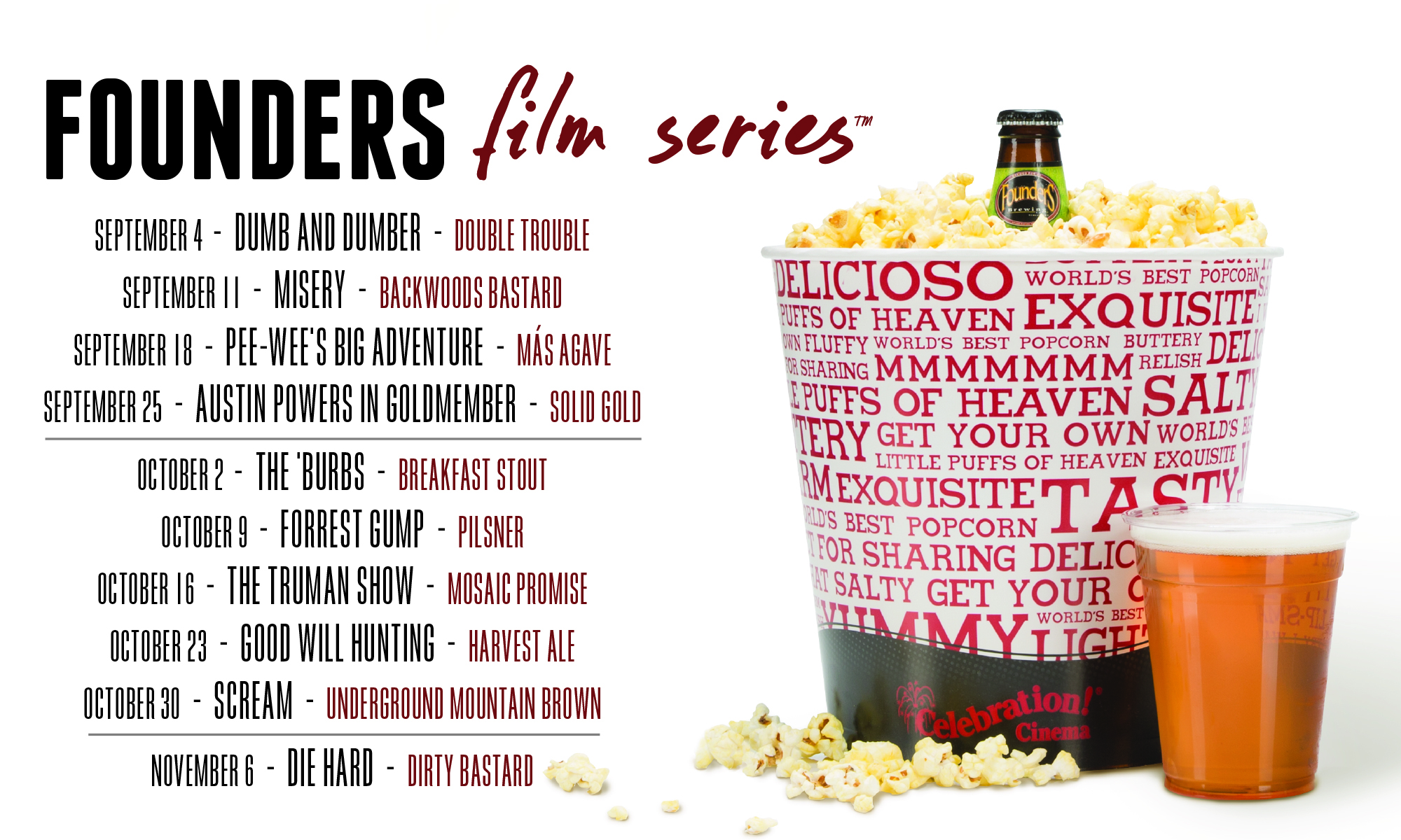 Founders Film Series event poster