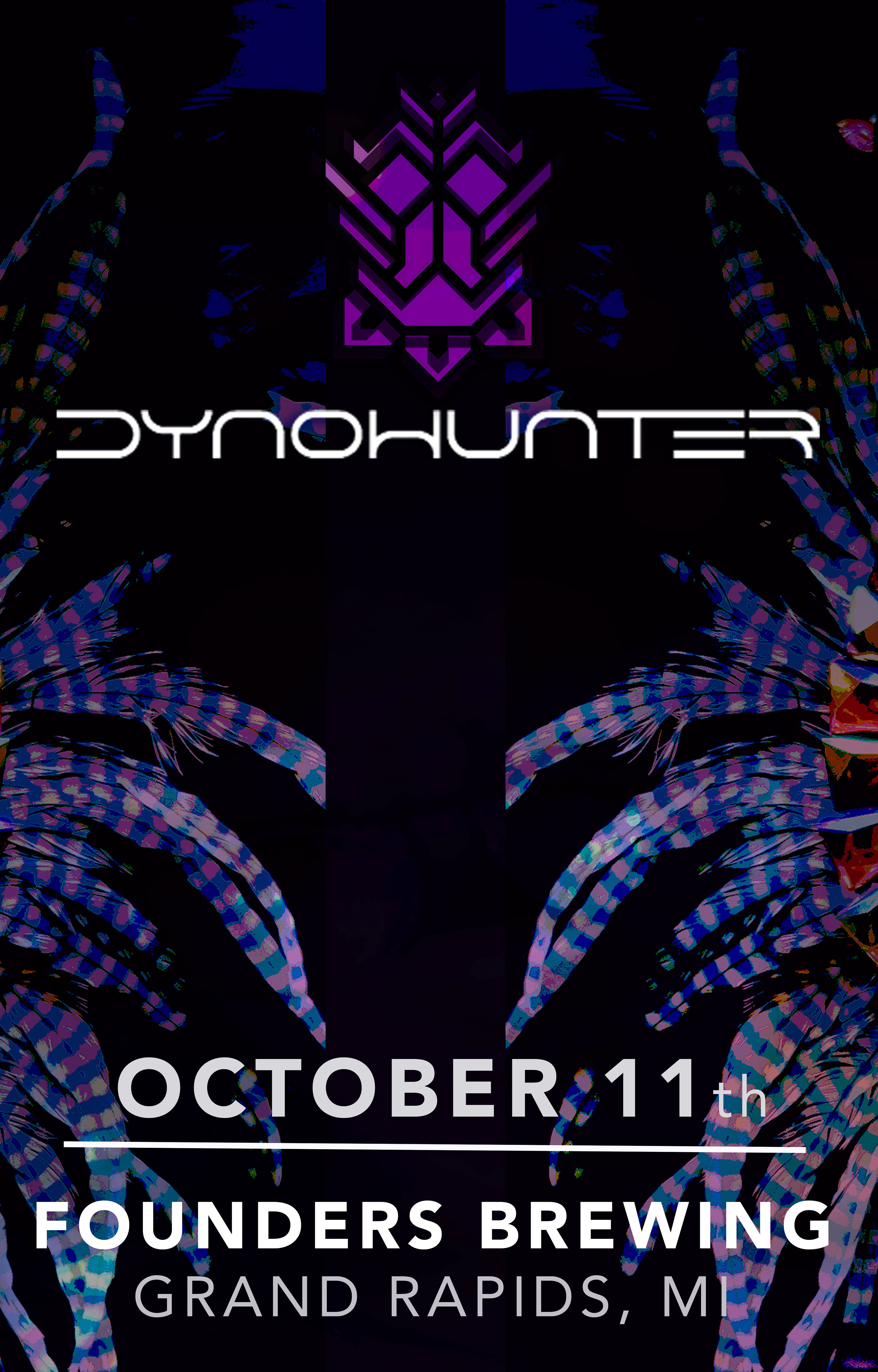 Dynohunter event poster hosted by Founders Brewing Co.