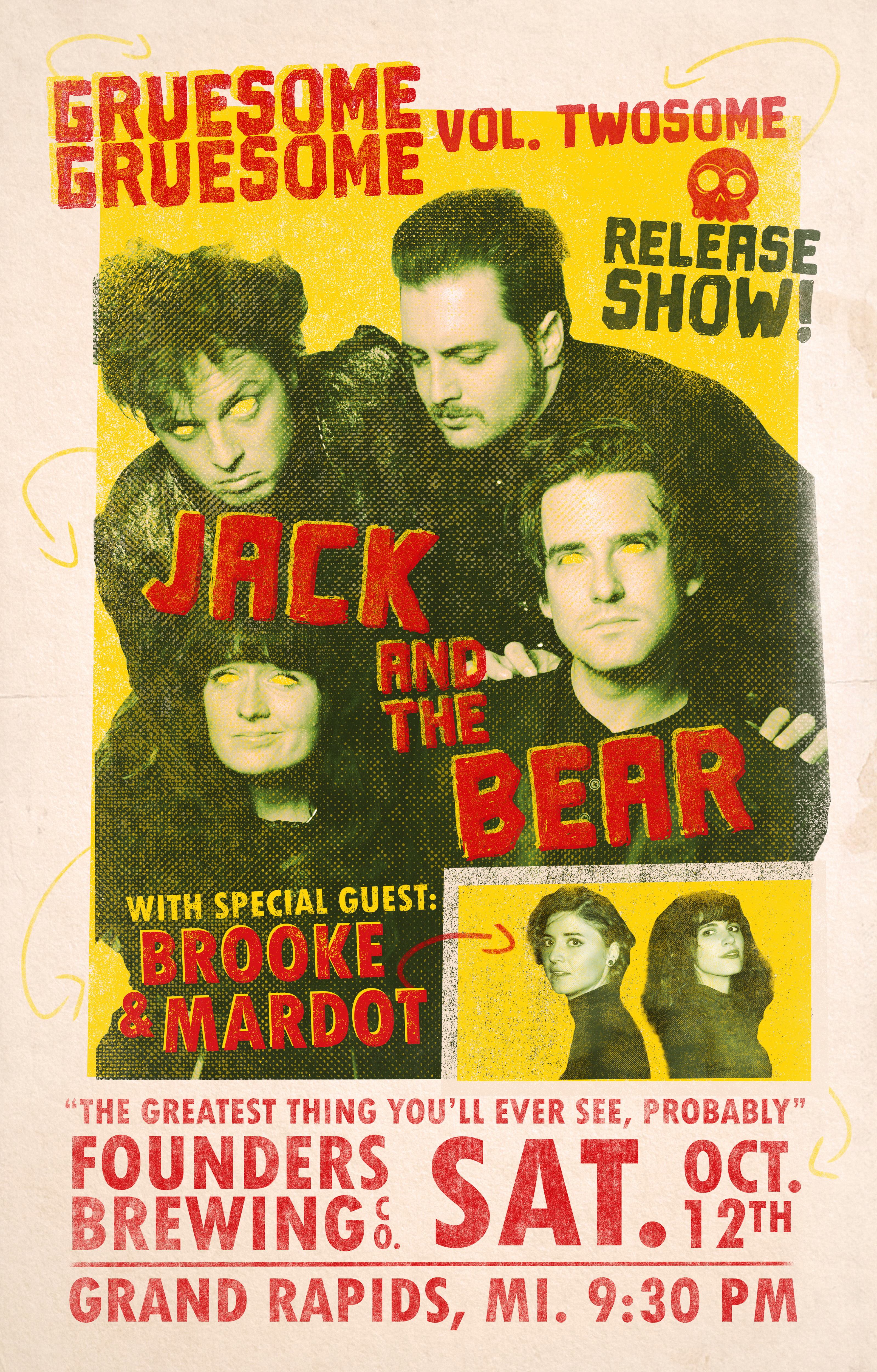 Jack and the Bear event poster hosted by Founders Brewing Co.