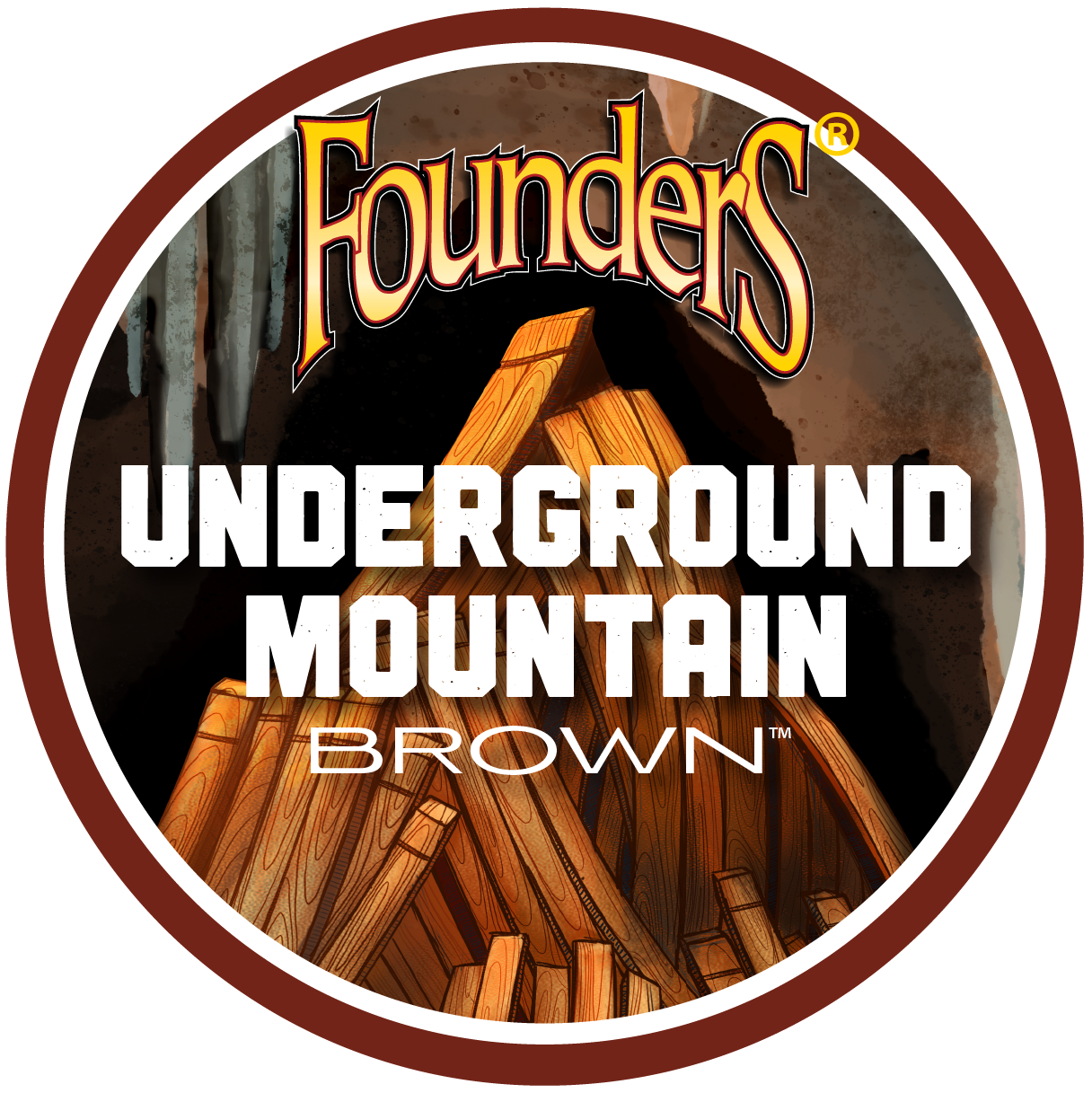 Founders Underground Mountain Brown logo