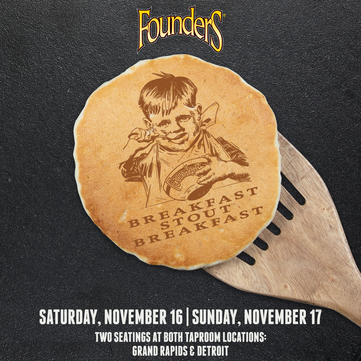 Founders Breakfast Stout Breakfast event poster