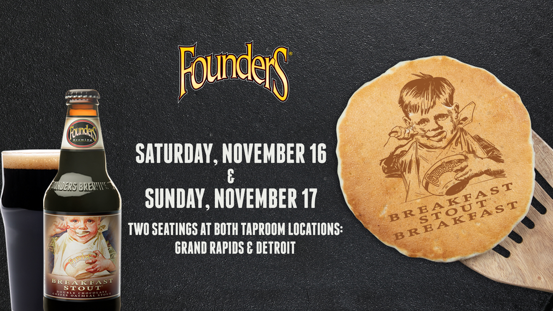 Founders Breakfast Stout Breakfast event banner