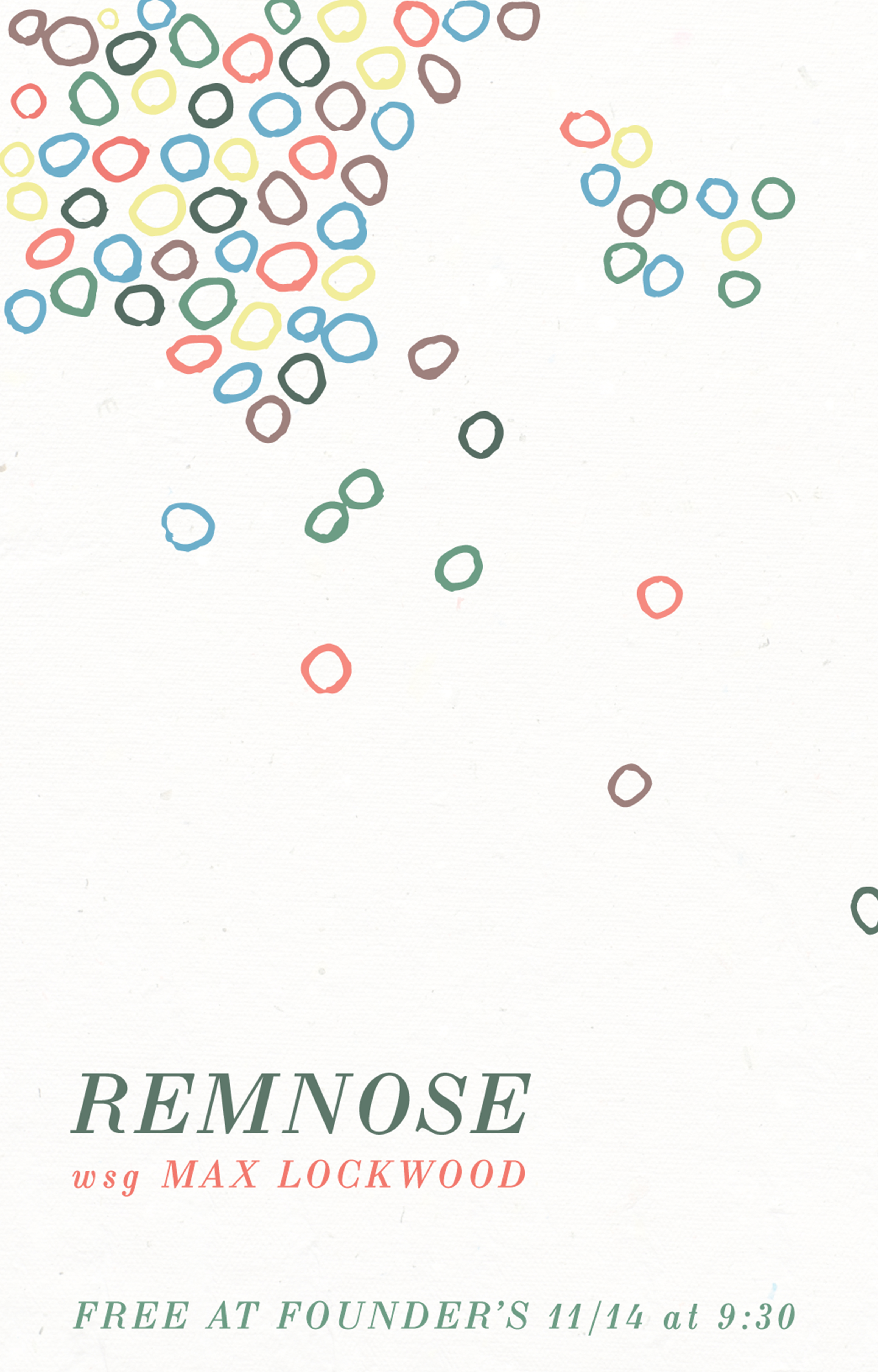 Remnose event poster hosted by Founders Brewing Co.