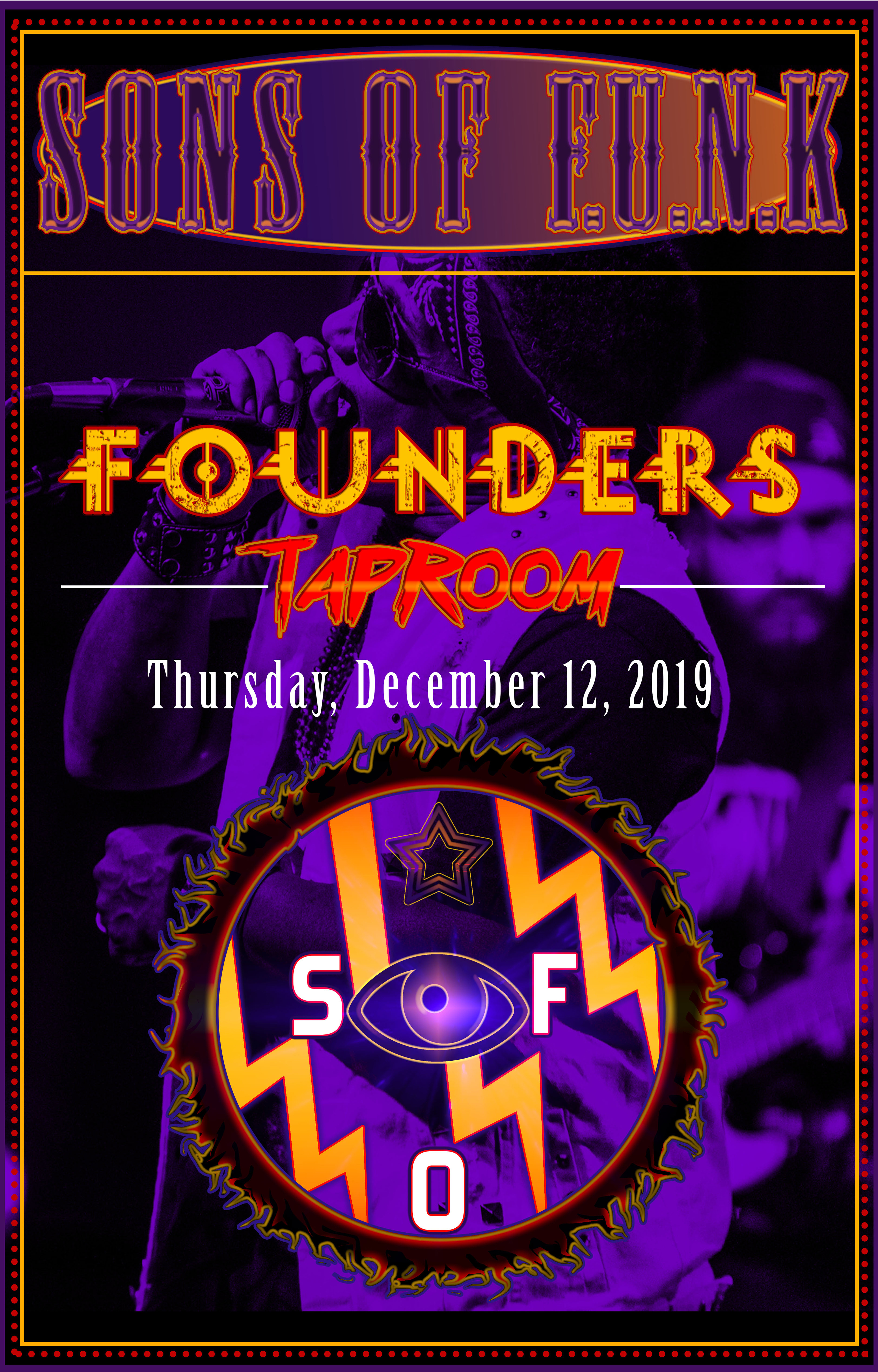 Sons of Funk event poster hosted by Founders Brewing Co.