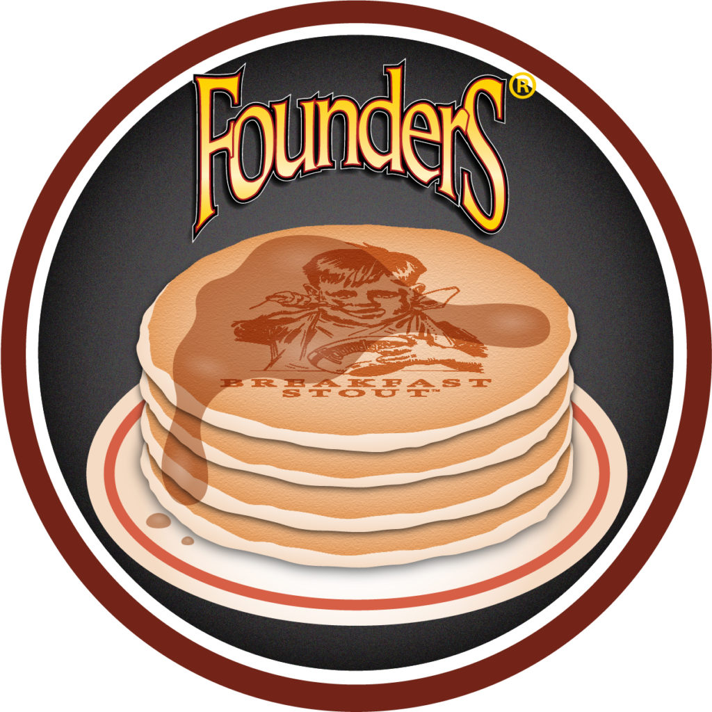 Founders Breakfast Stout logo of pancakes with syrup