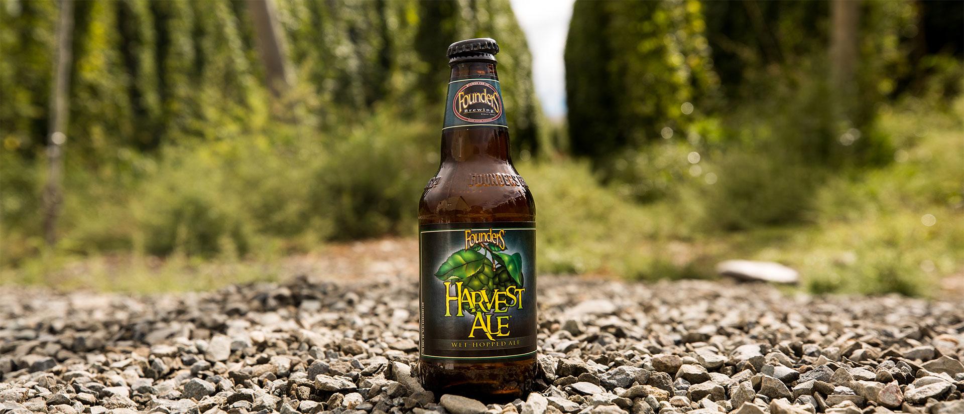 Bottle of Founders Harvest Ale