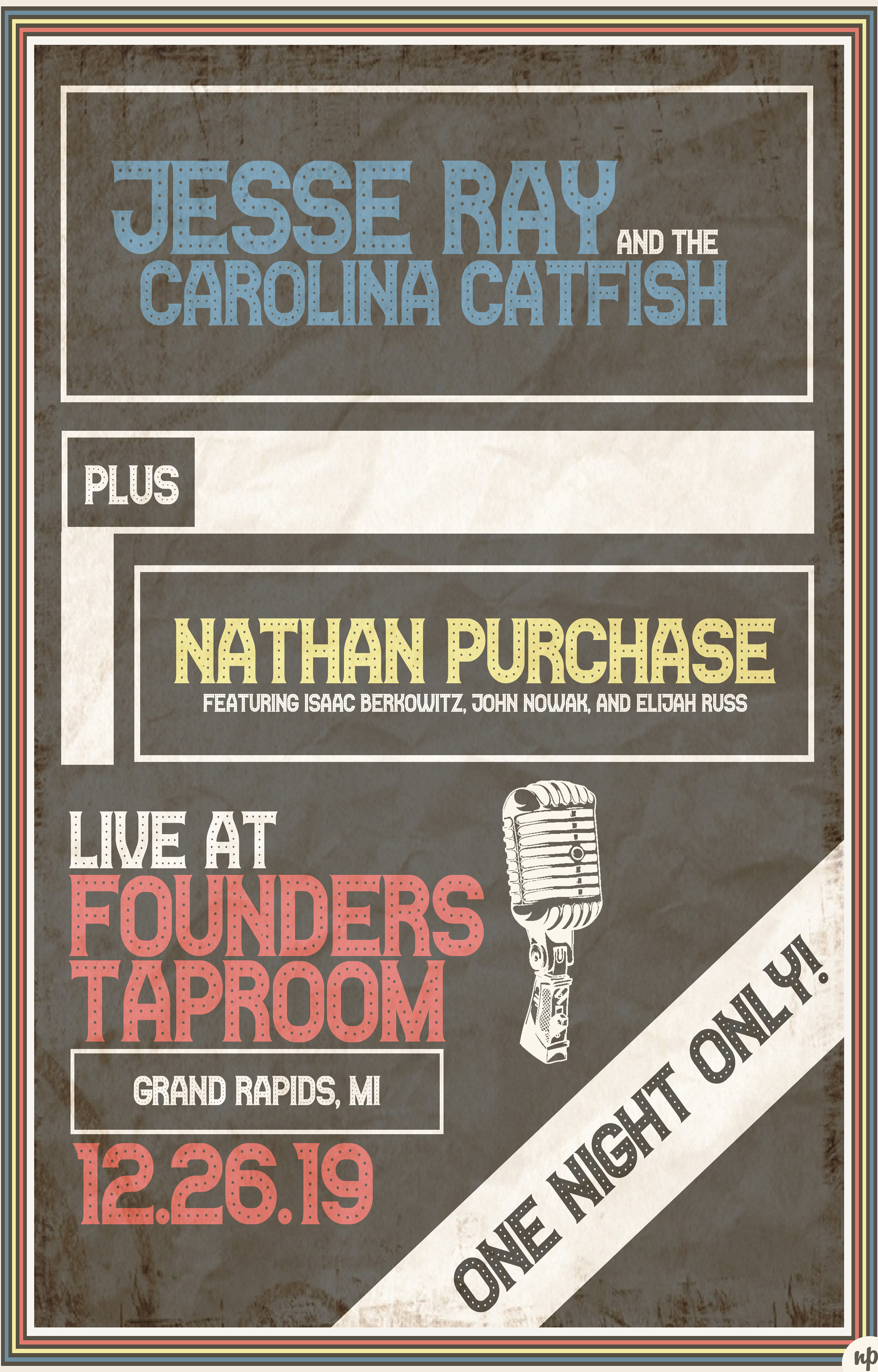 Jesse Ray and the Carolina Catfish and Nathan Purchase event poster