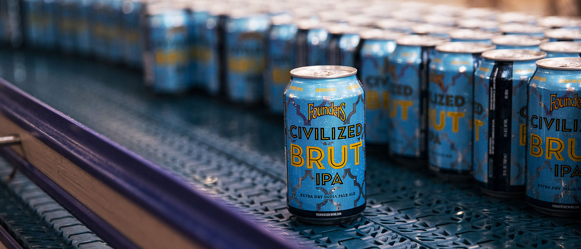 Cans of Founders Civilized Brut IPA