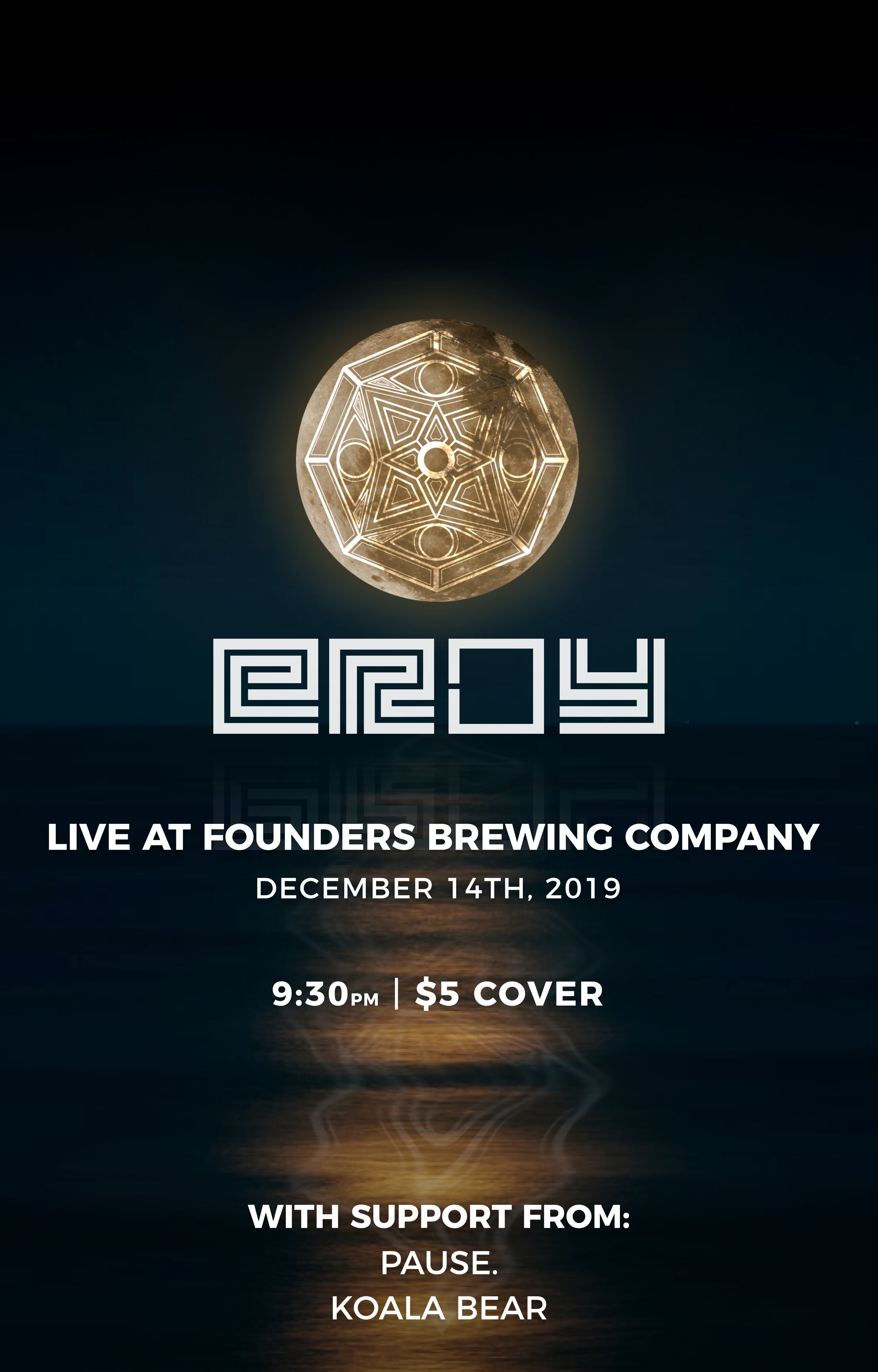 eRoy event poster hosted by Founders Brewing Co.