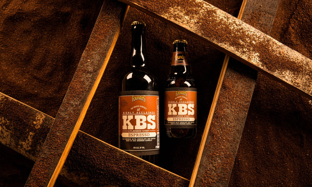 Two bottles of Founders KBS