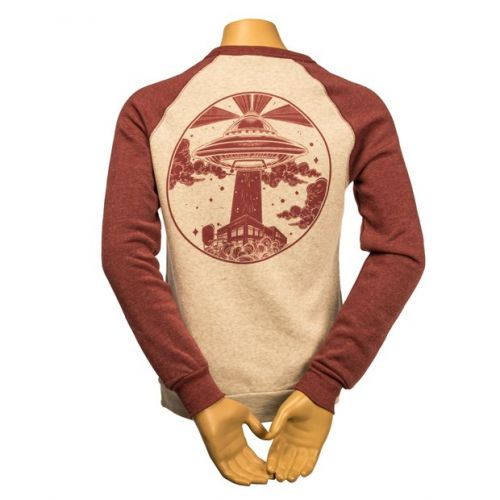 Long sleeve t shirt with spaceship design