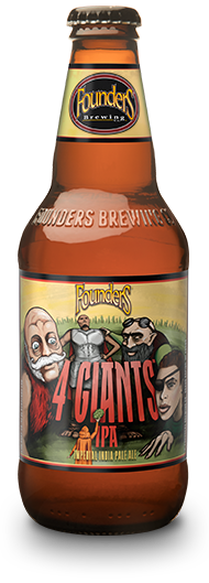 Bottle of Founders 4 Giants IPA