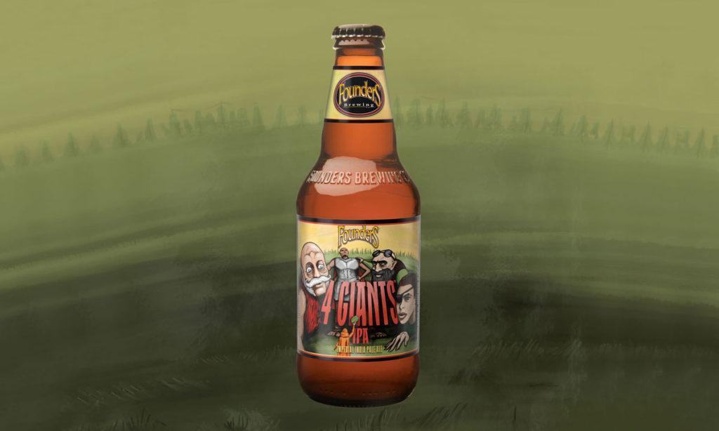 Bottle of Founders 4 Giants IPA