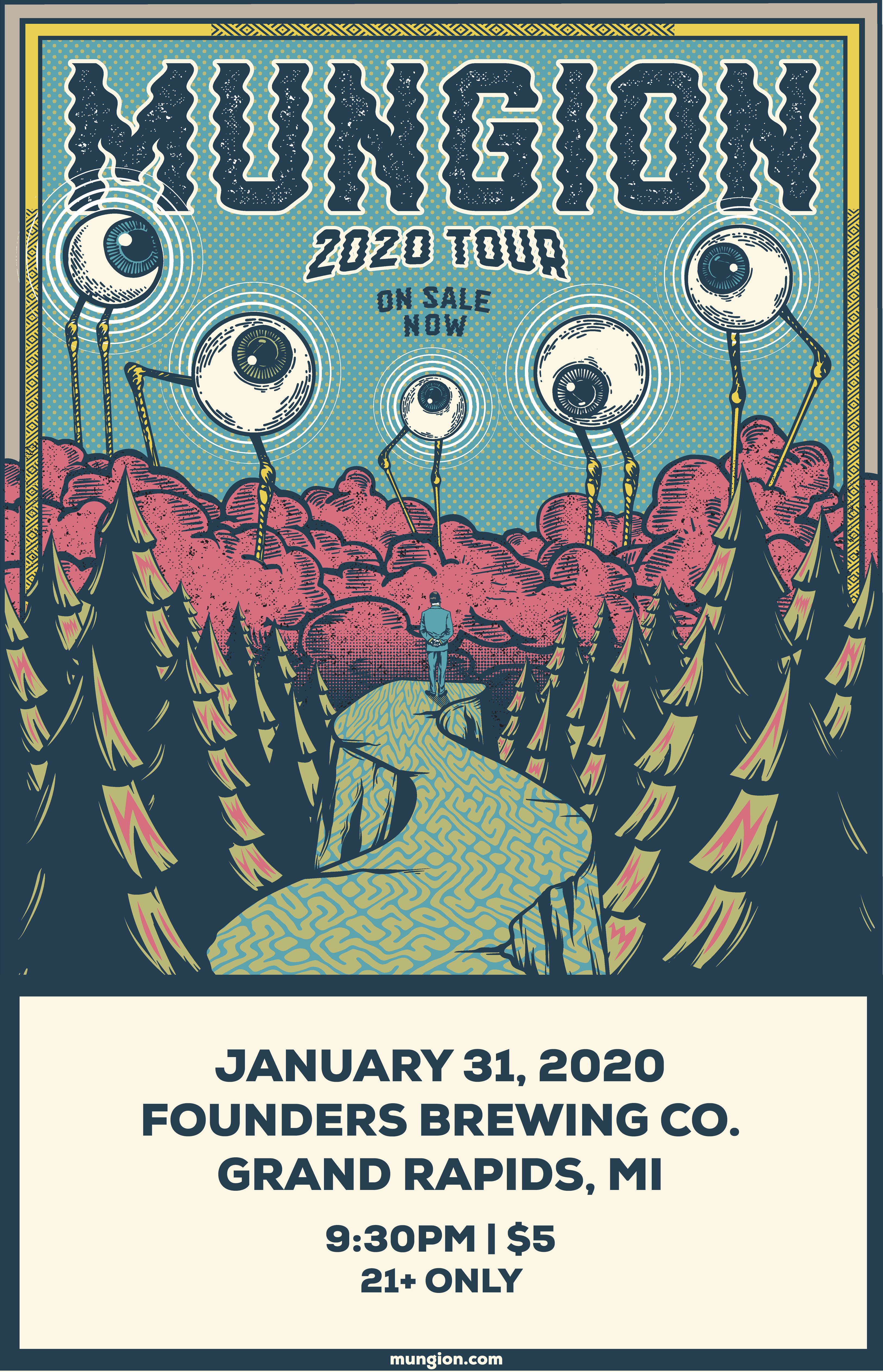 Mungion 2020 Tour event poster