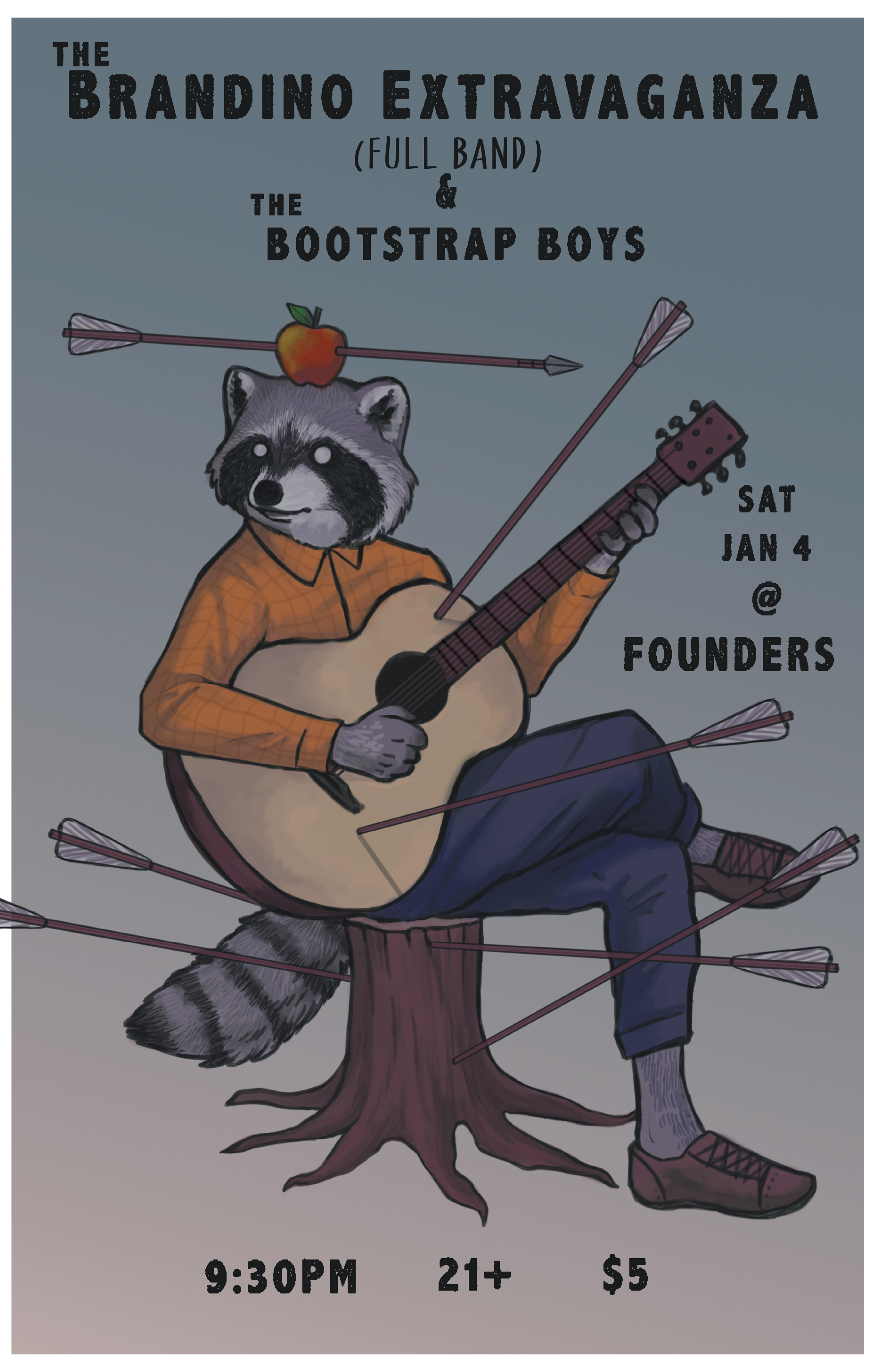 The Brandino Extravaganza & The Bootstrap Boys event poster