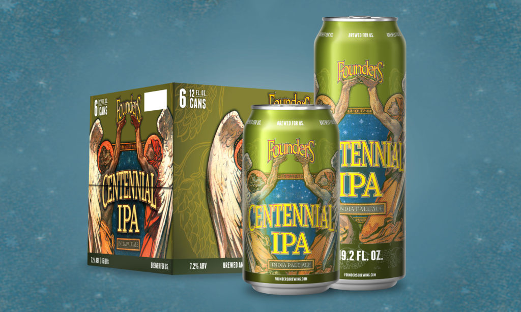 Cans of Founders Centennial IPA