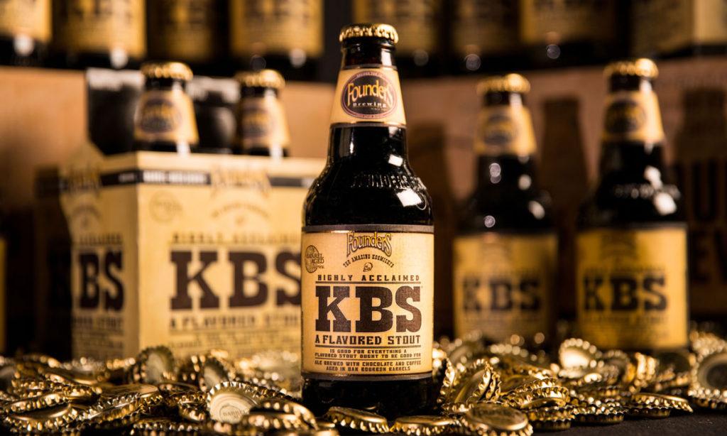 Bottles of Founders KBS