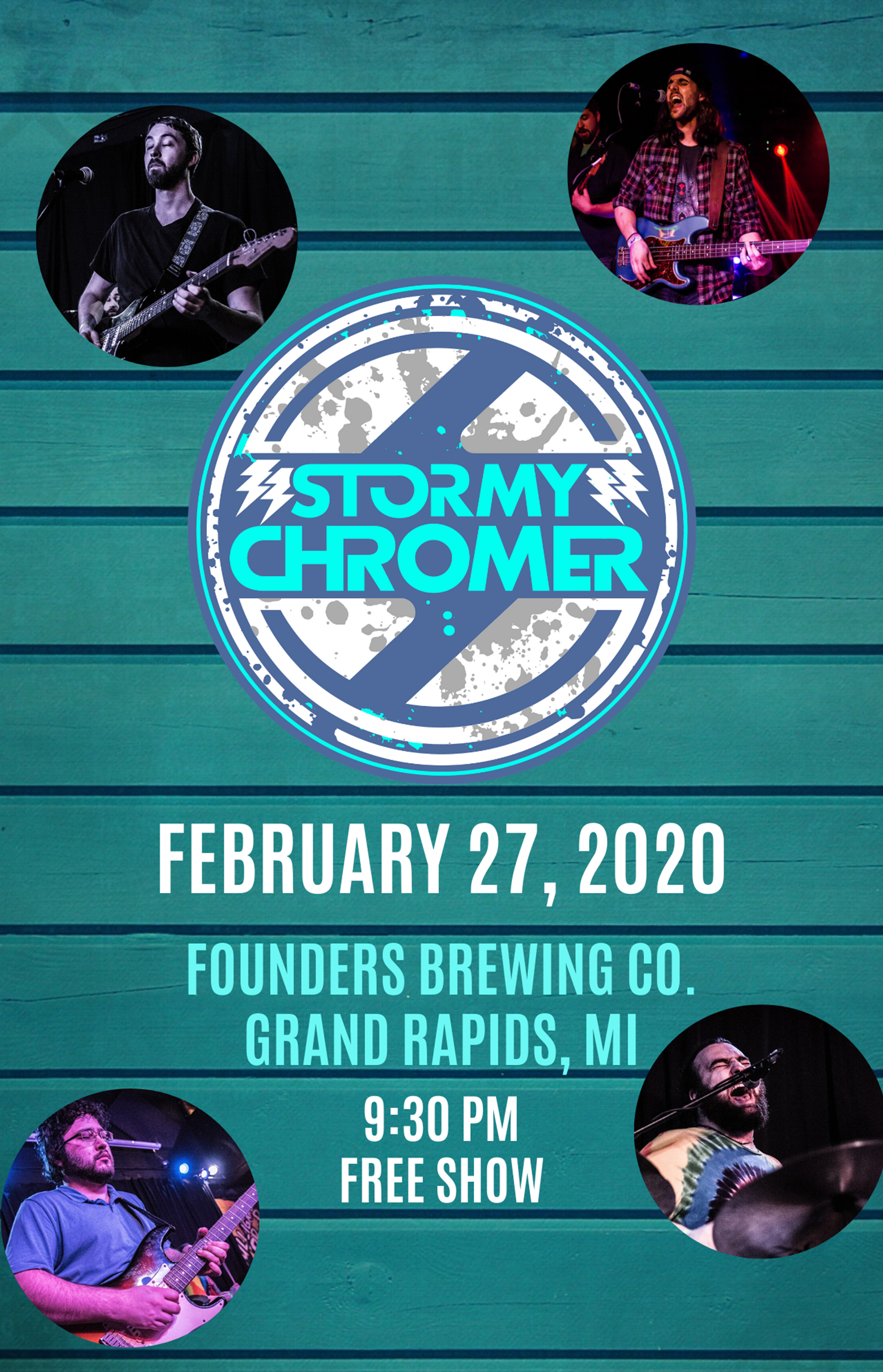 Stormy Chromer event poster hosted by Founder's Brewing Co.