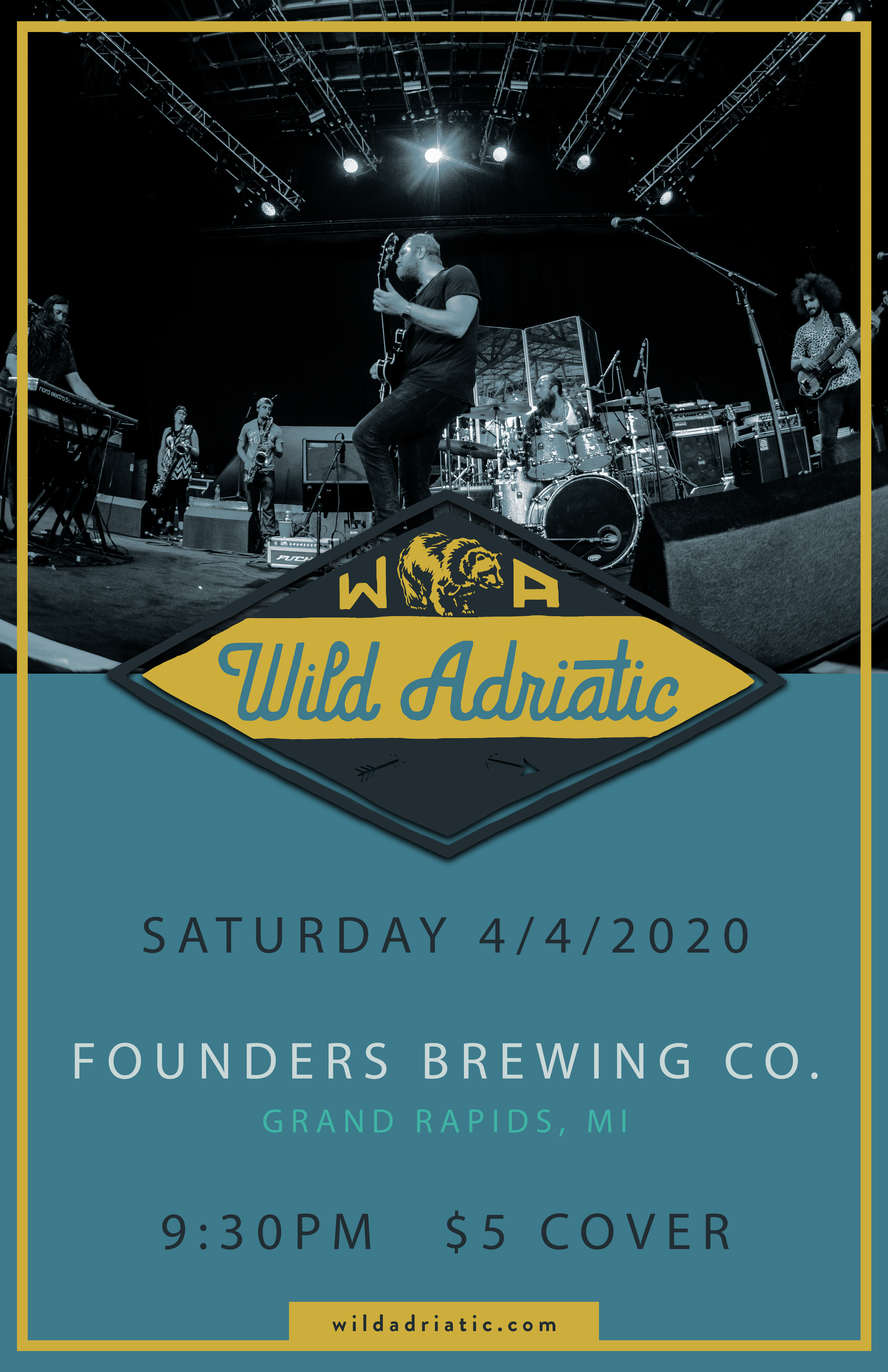 Wild Adriatic event poster hosted by Founder's Brewing Co.