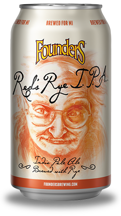 Can of Founders Red's Rye Indian Pale Ale