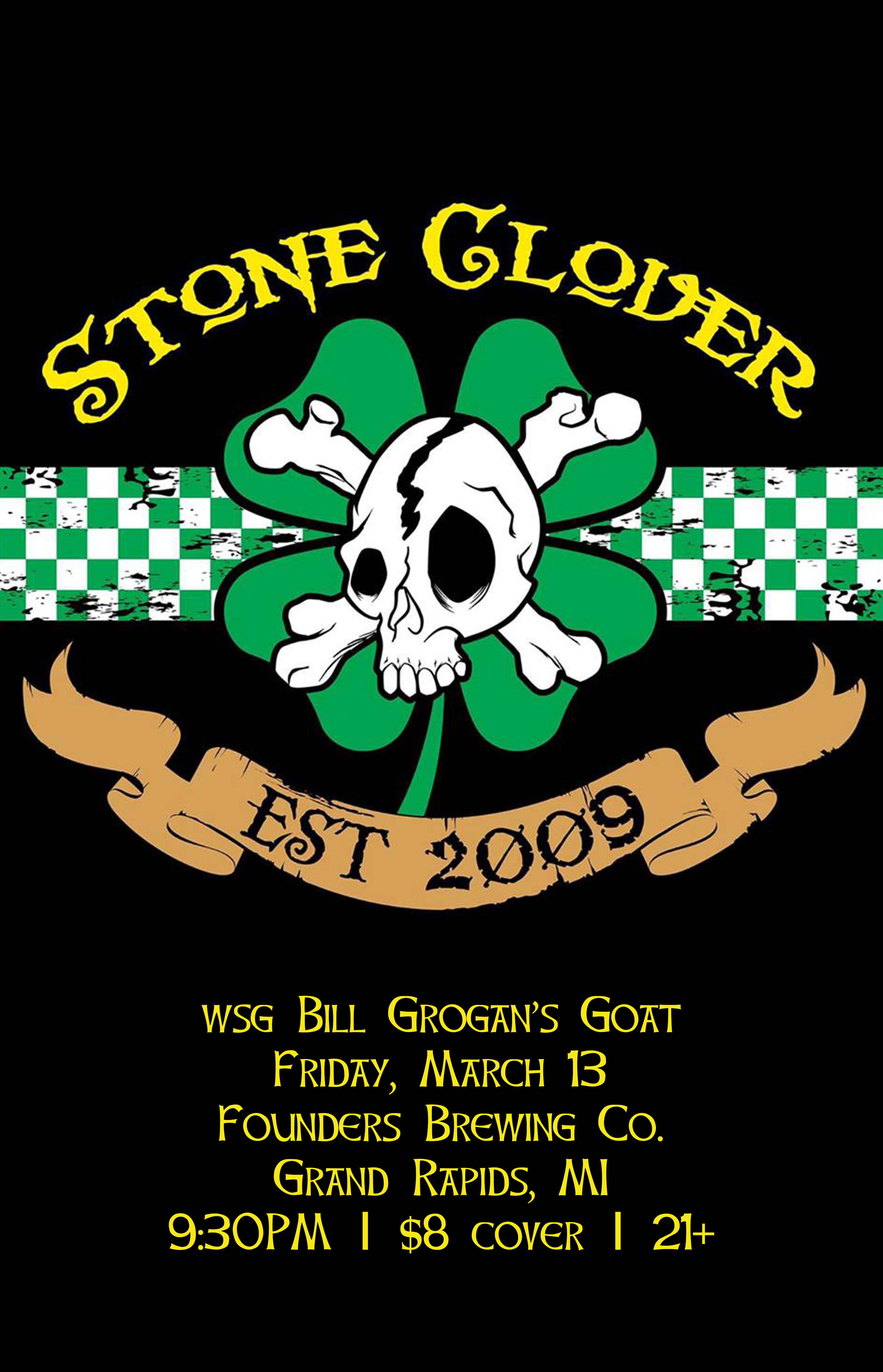 Stone Glover event poster hosted by Founders Brewing Co. in Grand Rapids