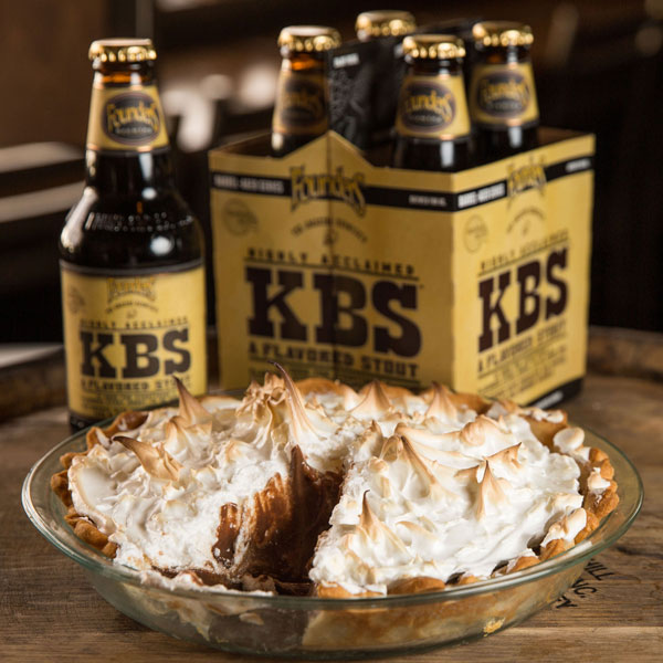 Founder's KBS beer and a pie