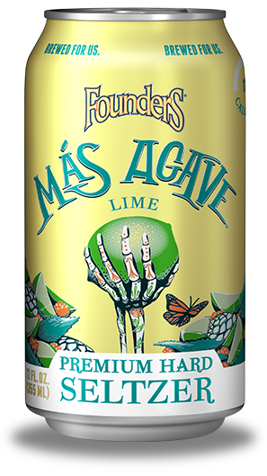 Mas Agave Premium Hard seltzer can