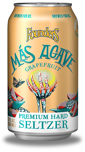 Mas Agave Premium Hard Seltzer grapefruit can