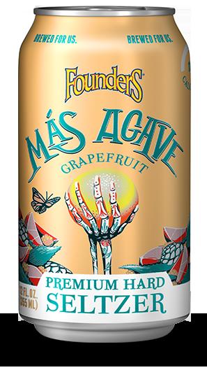 Mas Agave Premium Hard Seltzer grapefruit can