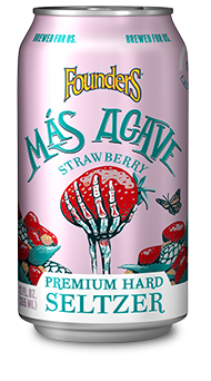 Mas Agave Premium Hard Seltzer strawberry can