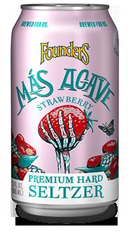 Mas Agave Premium Hard Seltzer strawberry can